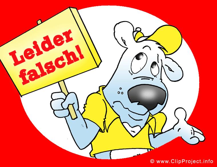 Cartoon Hund Clipart Bild - Leider falsch