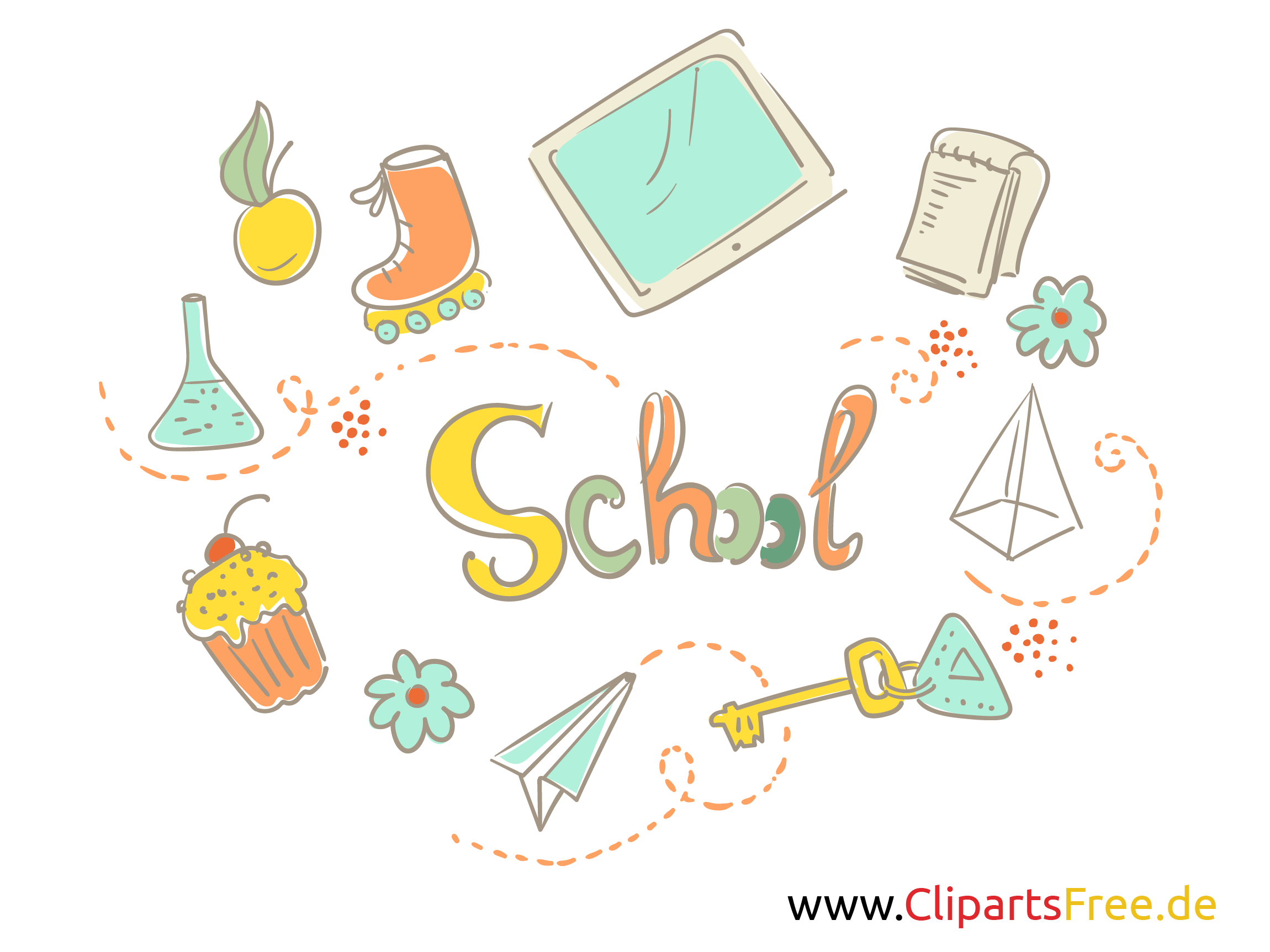 Englisch Clipart School