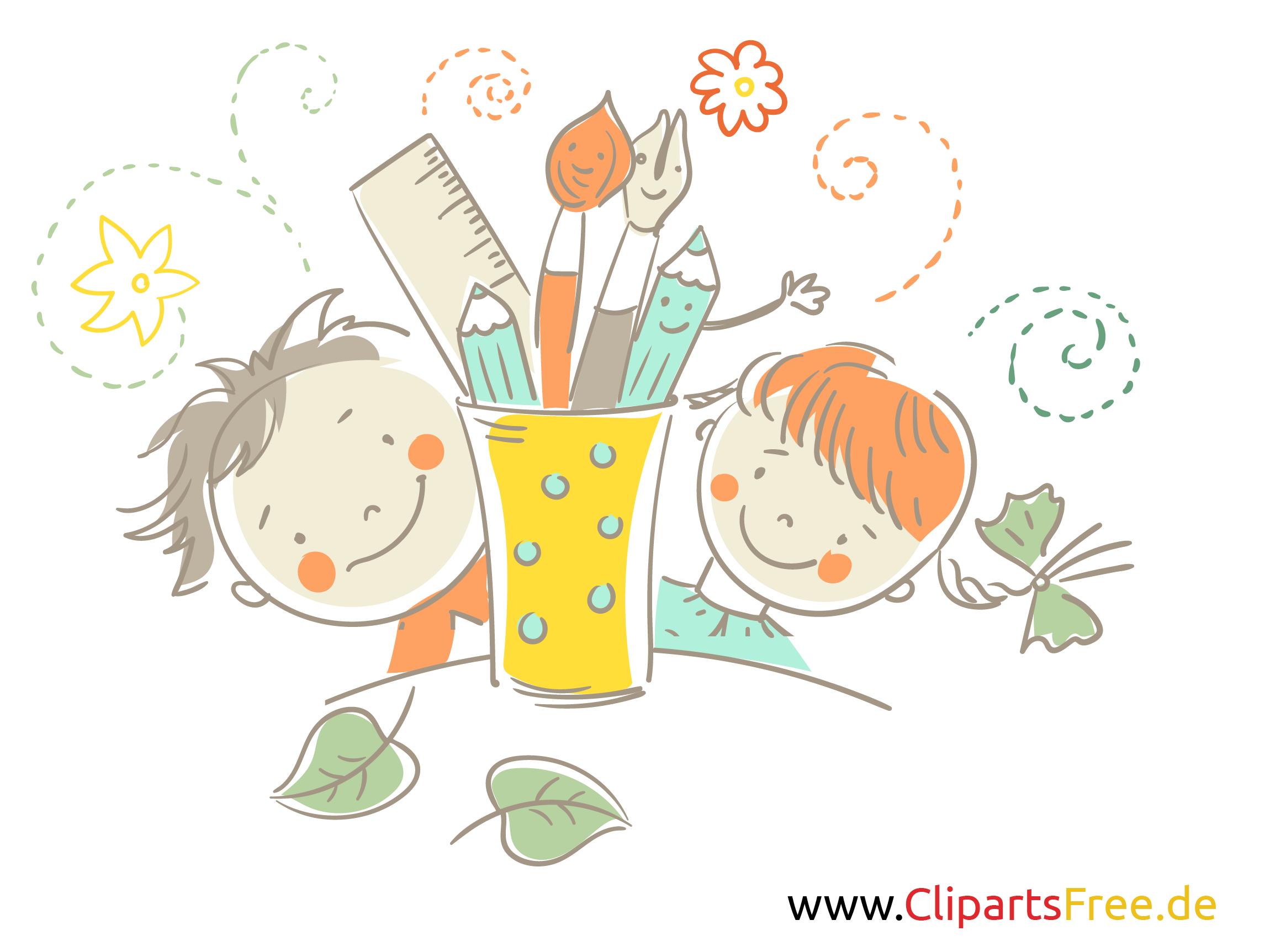 Fröhliche Kinder Clipart kostenlos