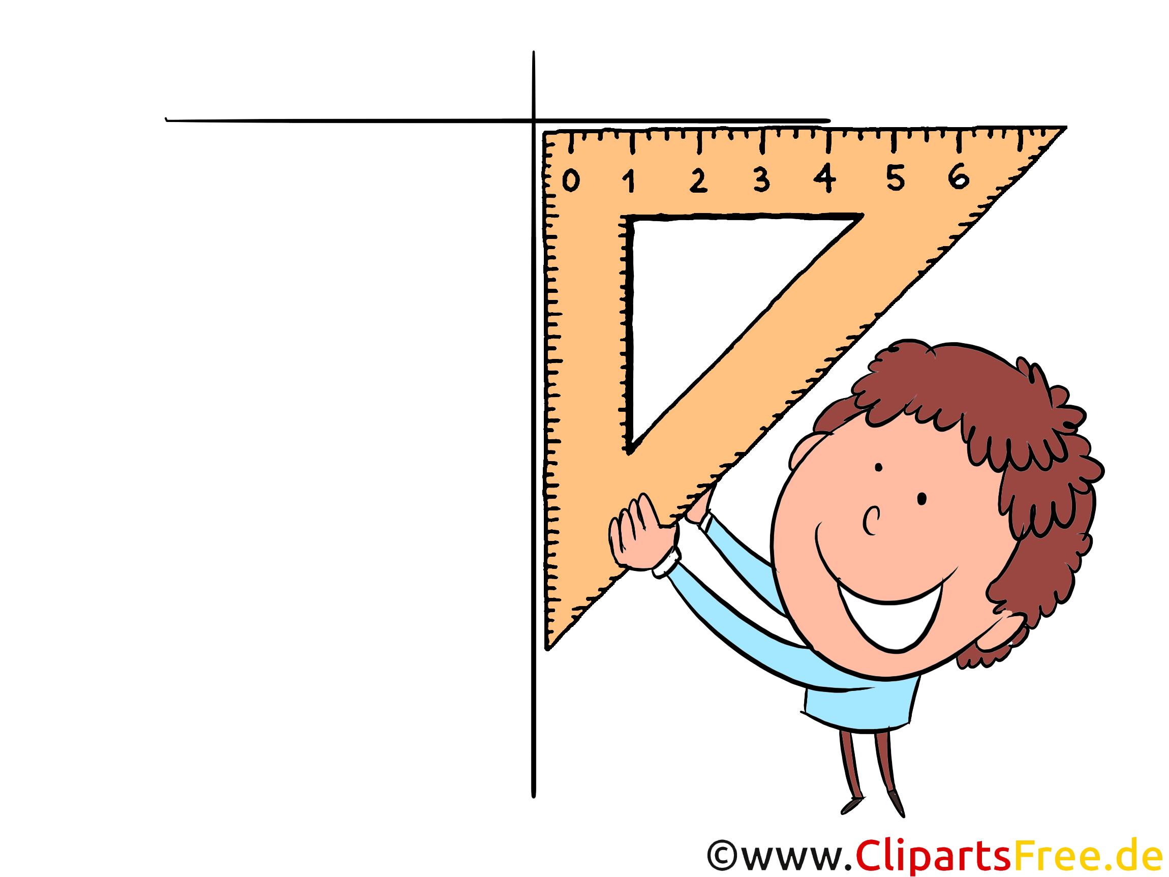 Geometrie Unterricht Clipart, Bild, Illustration