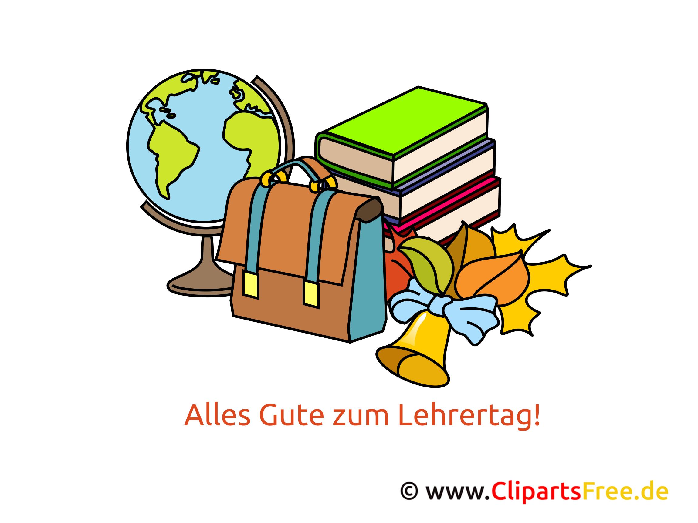 Internationaler Lehrertag  Clipart, Bild, Karte, Glueckwuensche