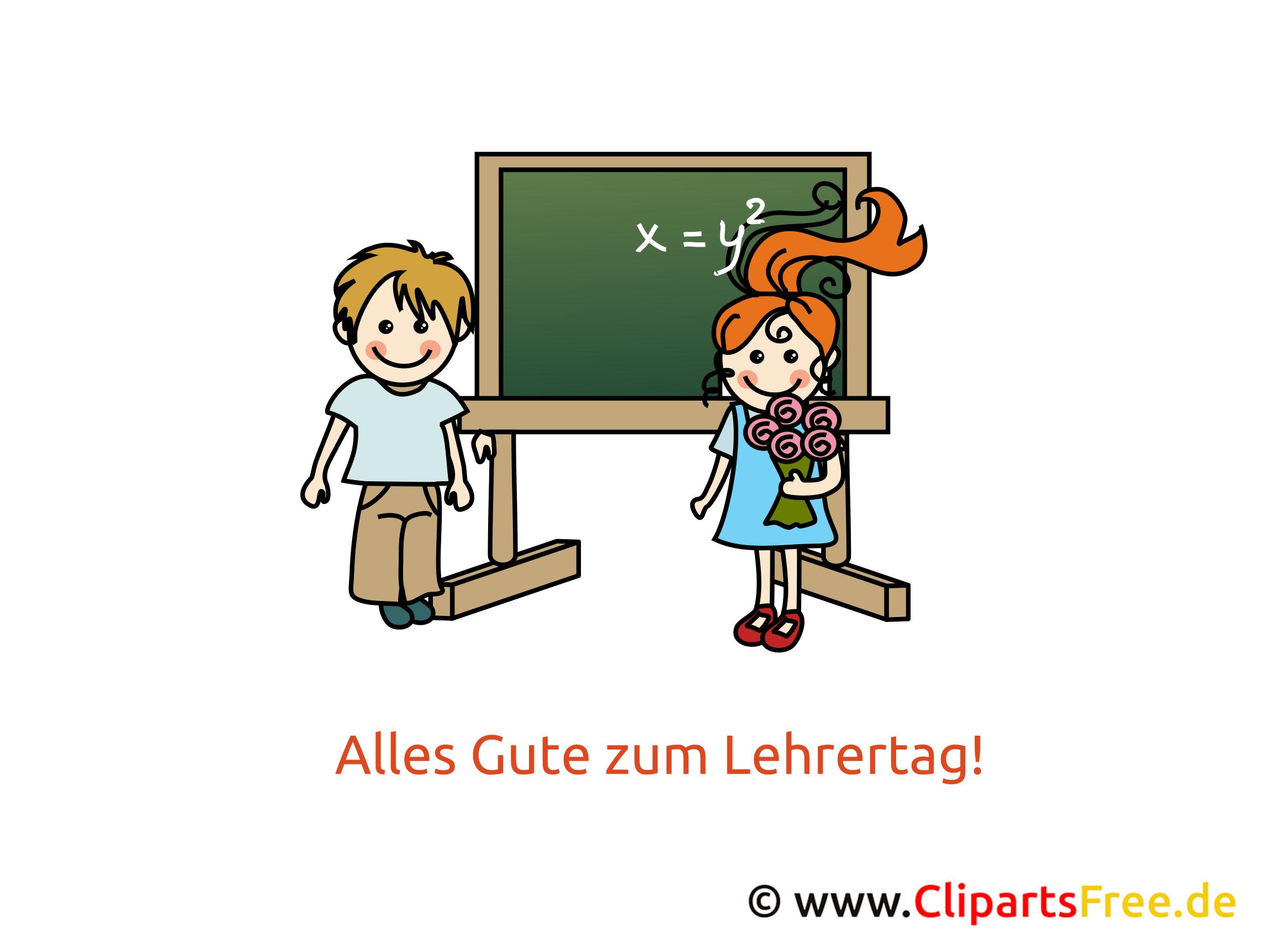Lehrer Tag Clipart, Bild, Karte, Glückwünsche