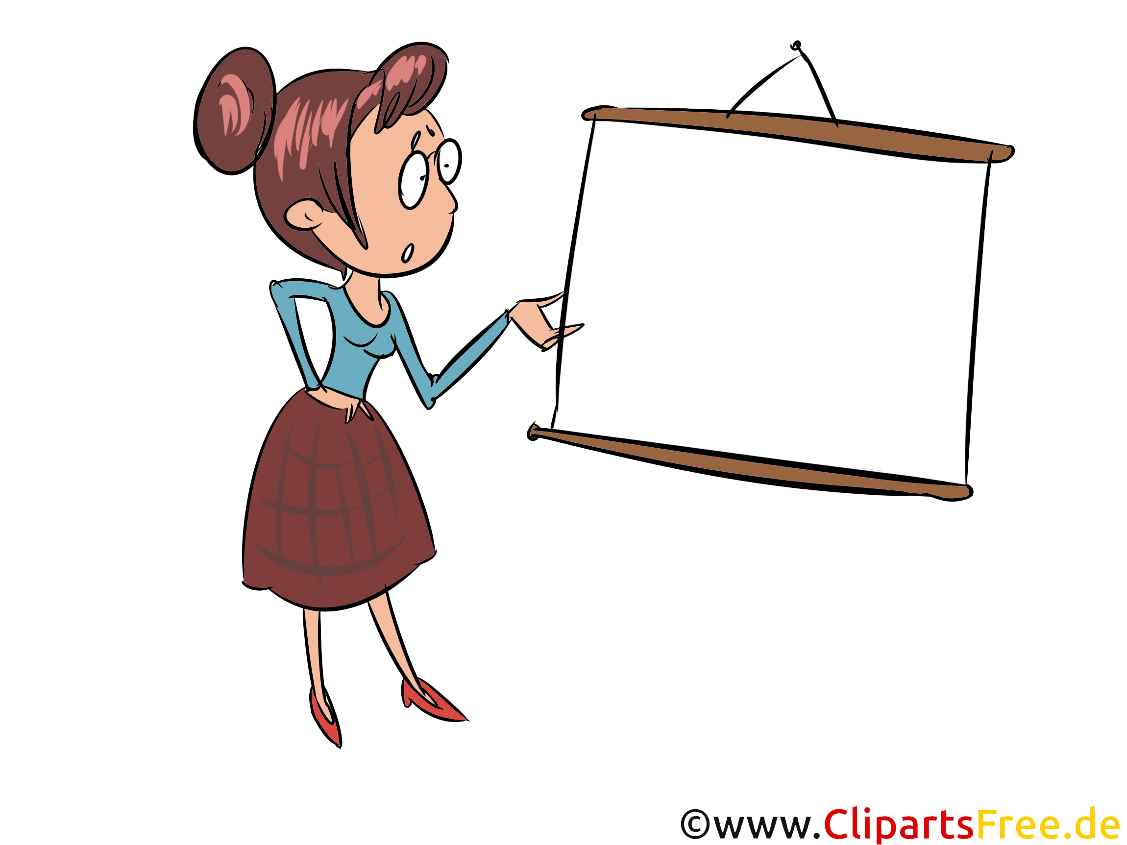 Lehrerin Illustration, Clip Art, Grafik, Bild
