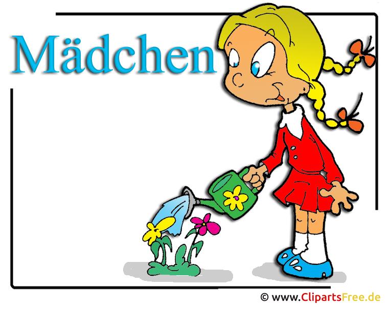 Mädchen Cliparts free - Schule Clipart