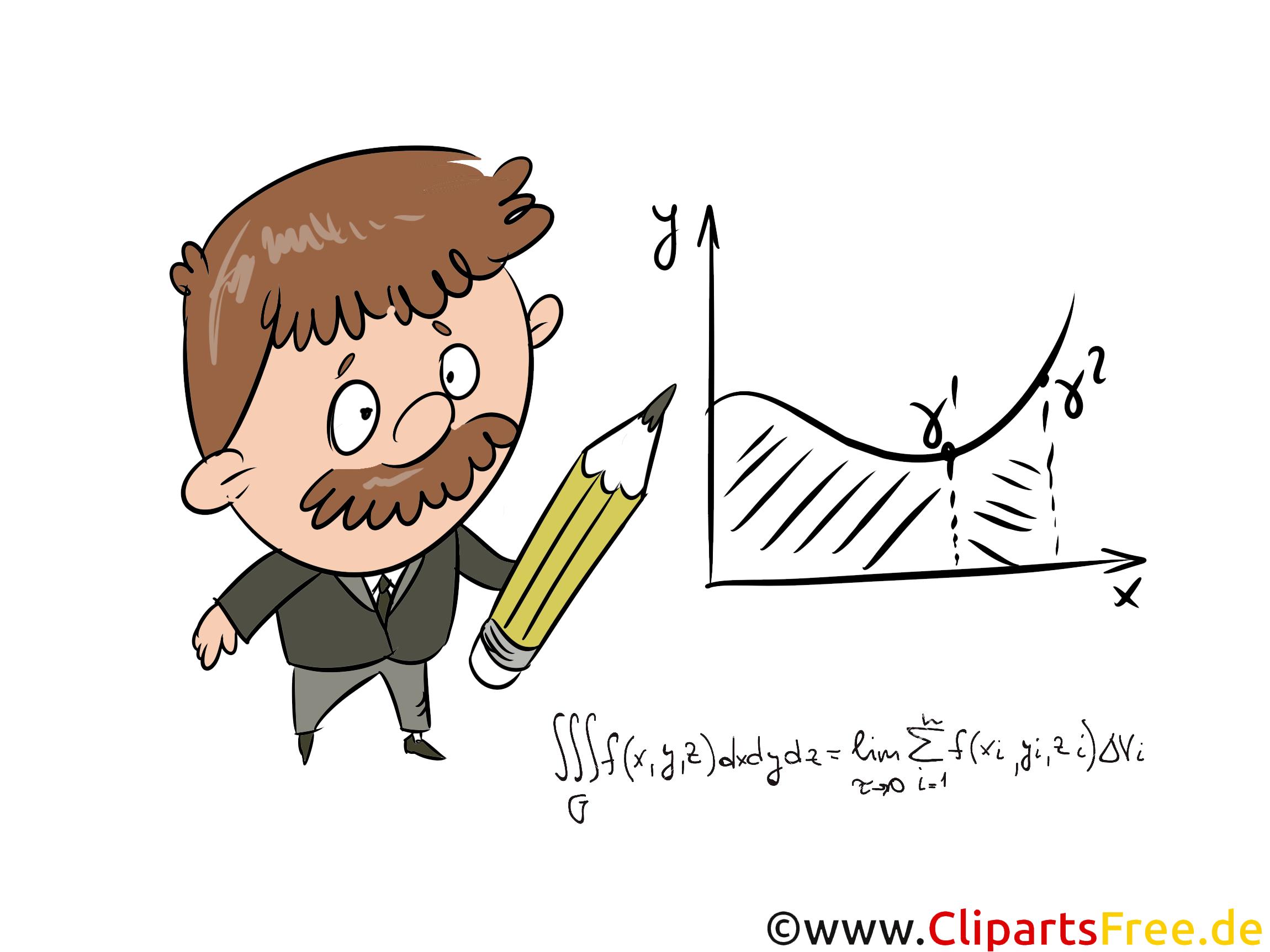 Mathe Unterricht Bild, Illustration, Clipart, Grafik