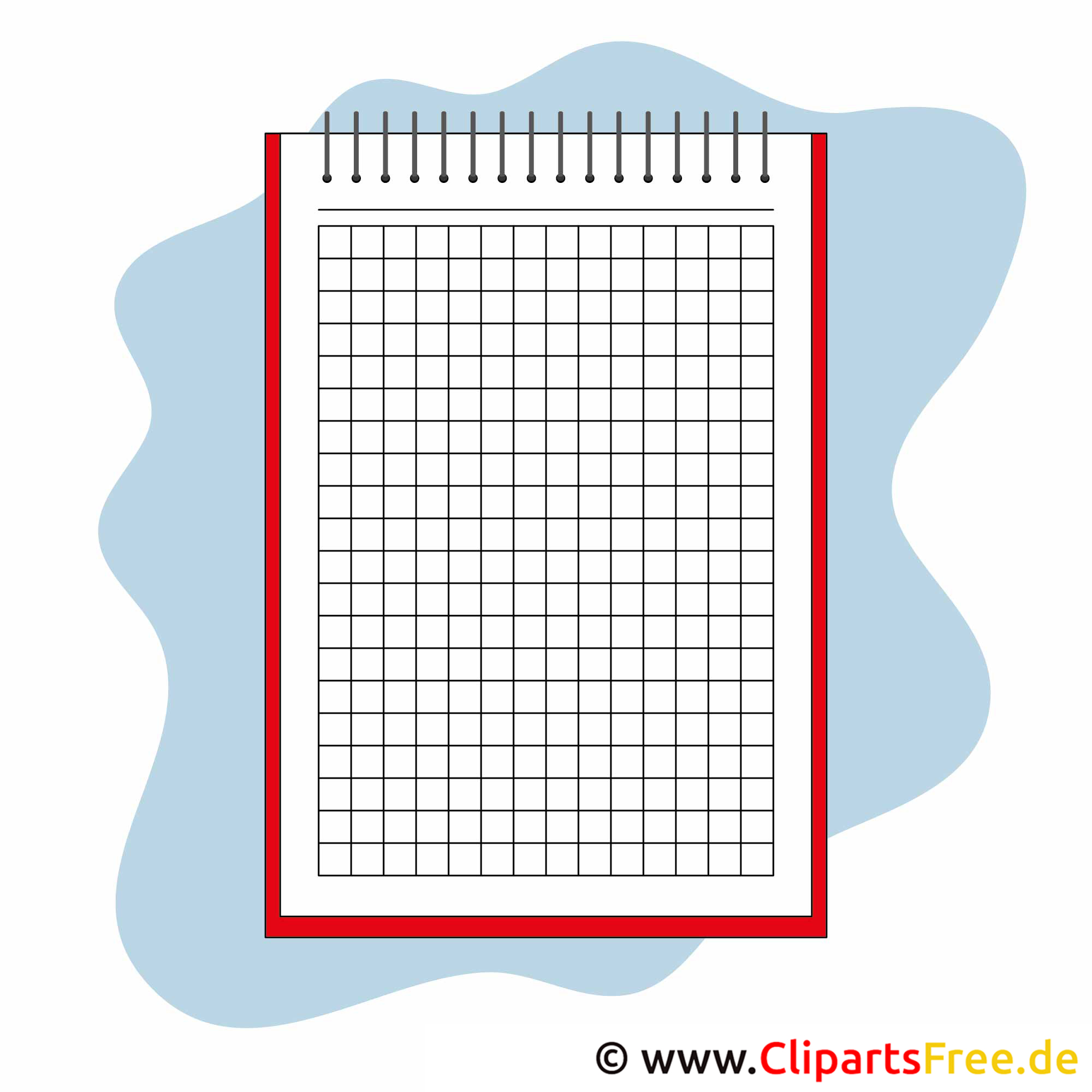 Notizbuch Bild gratis - Schule Cliparts
