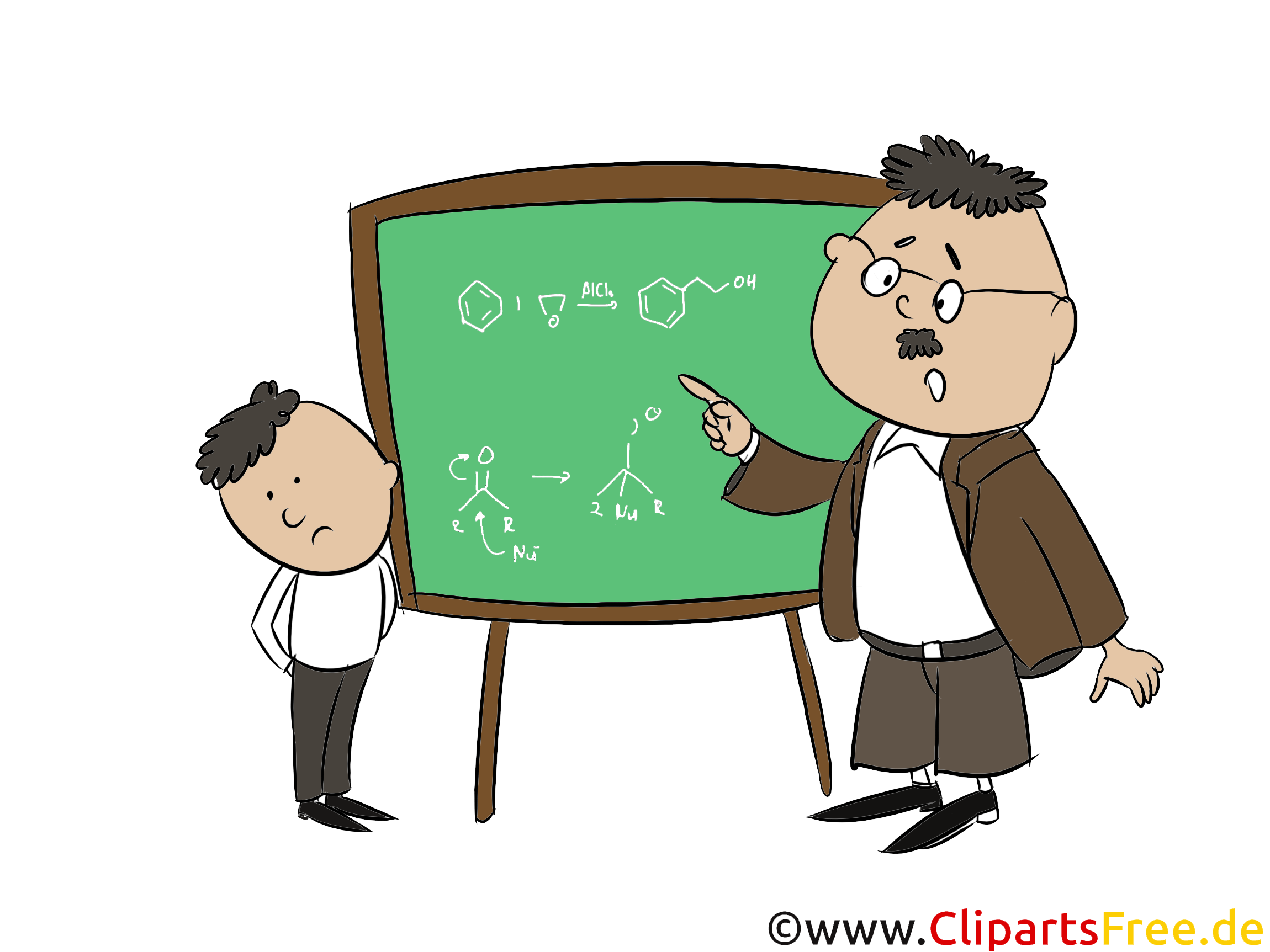 Schüler und Lehrer Clipart, Bild, Illustration