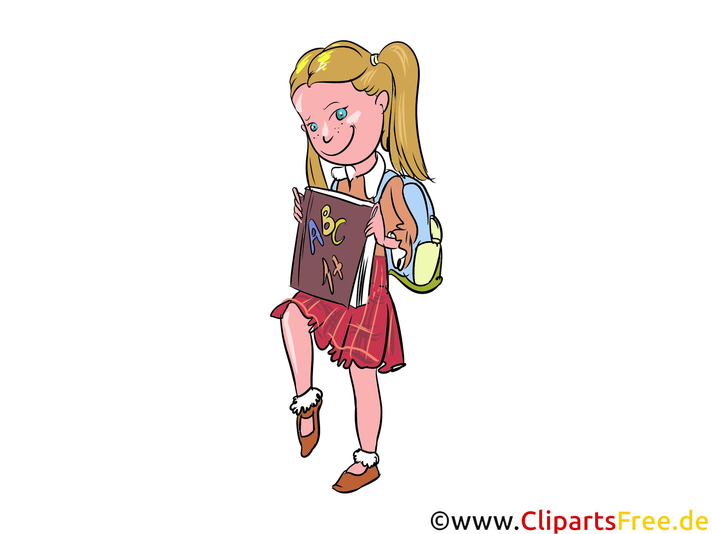 Schülerin, Gymnasium, Schule, Bildung Cliparts, Bilder, Grafiken