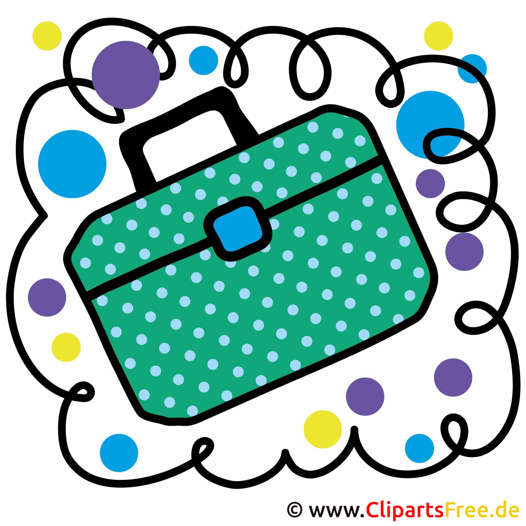 Schule Clip Arts free - Schultasche Bild