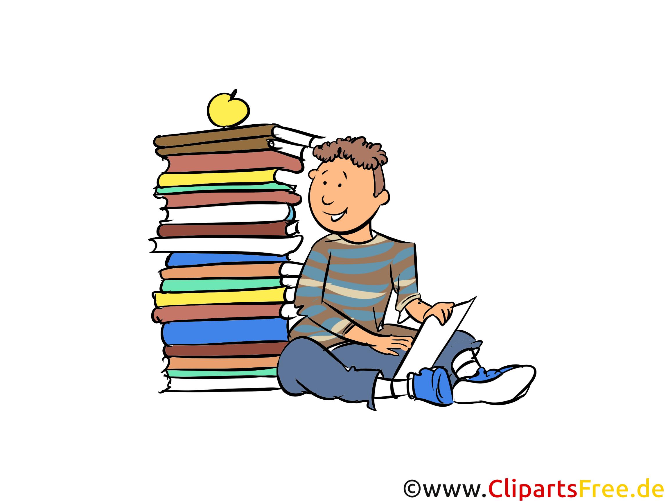 Stapel Bücher Bild, Clipart, Comic, Cartoon