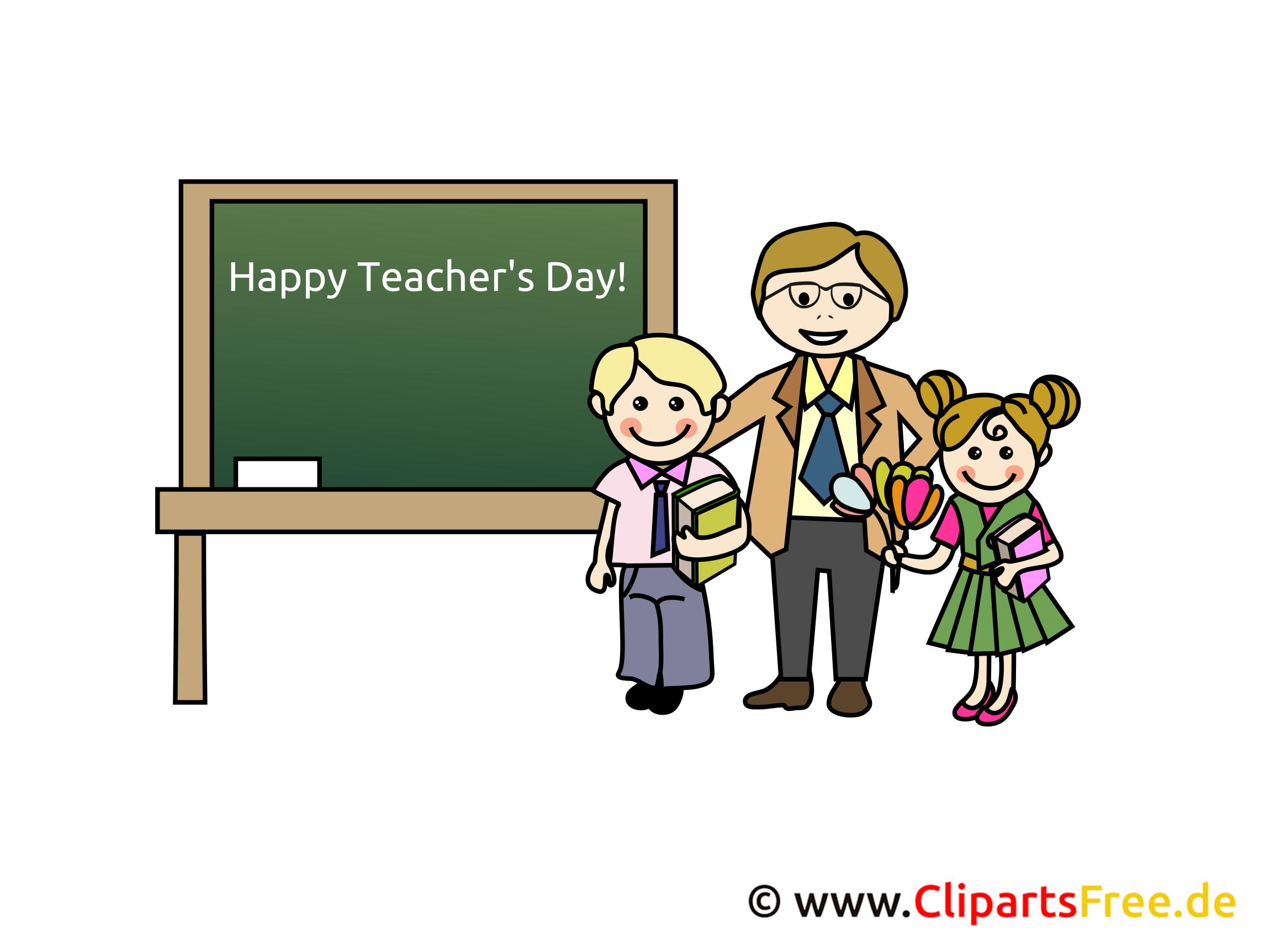 Tag der Lehrer Clipart, Bild, Karte