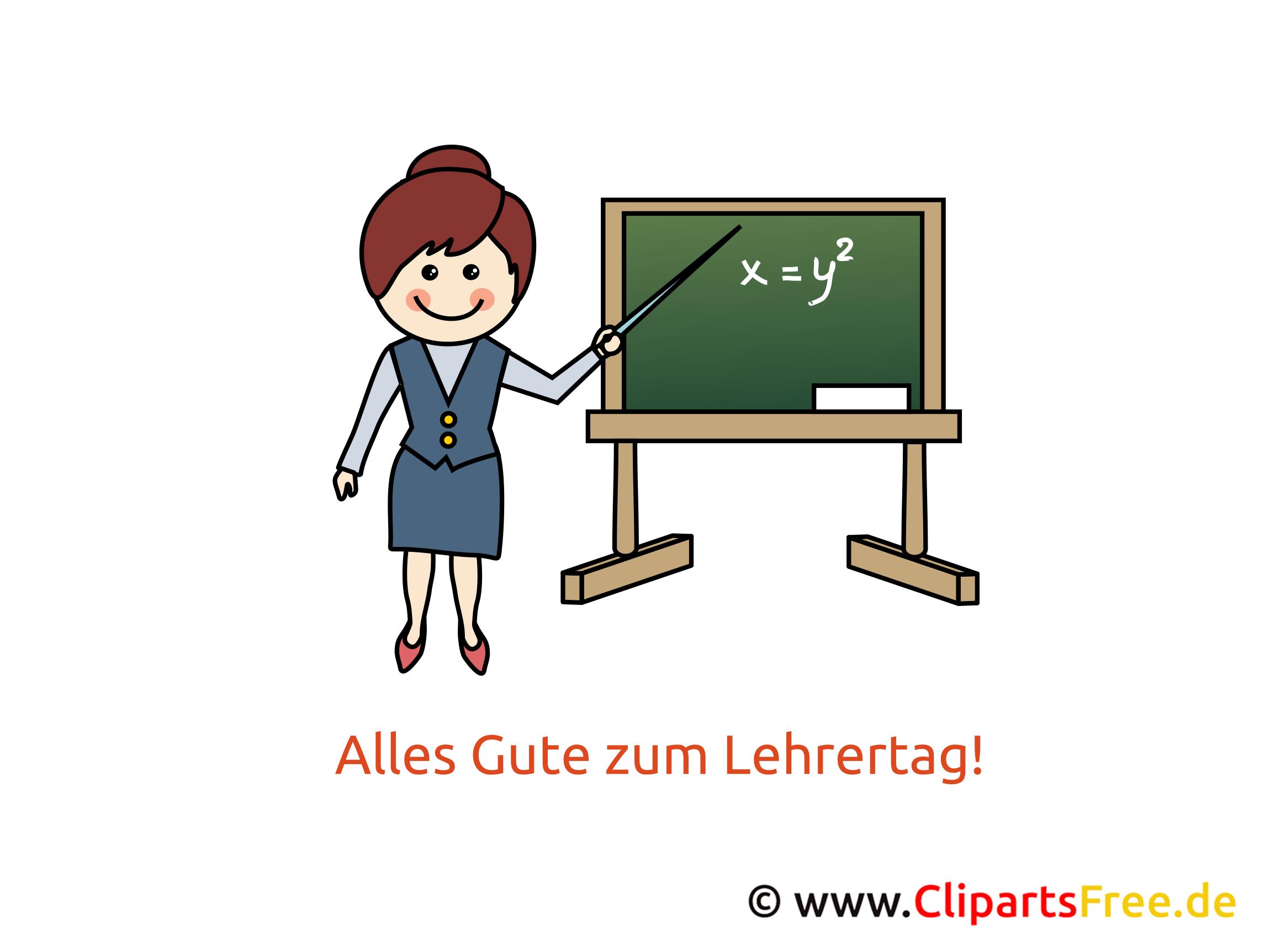 Tag des Lehrers Clipart, Bild, Karte, Glueckwuensche