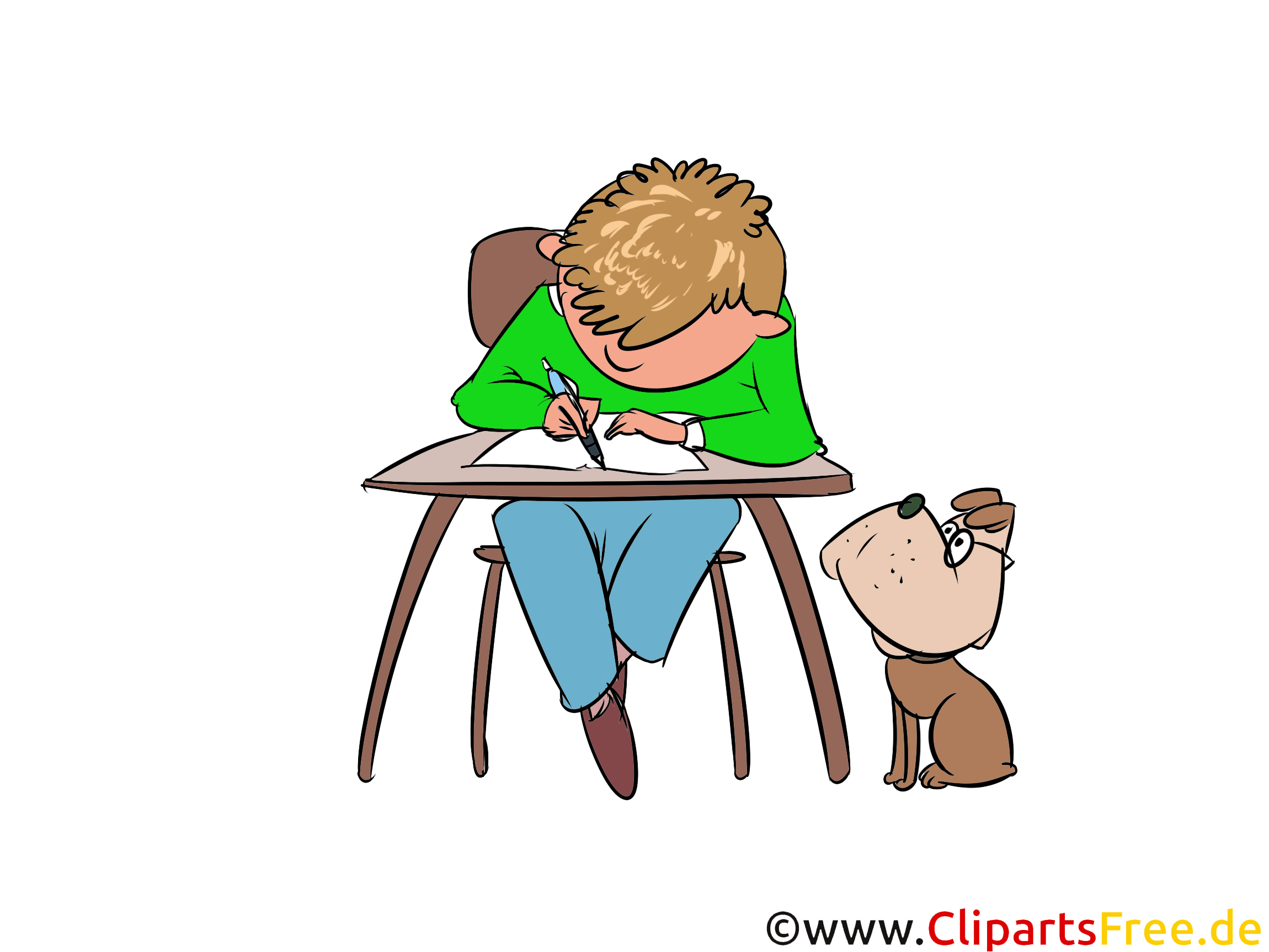Unterricht in der schule clipart bild illustration grafik for Schule grafik