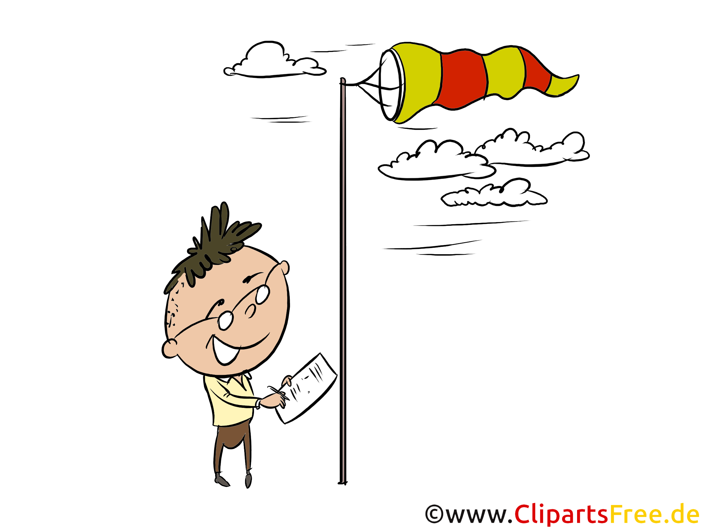 Windsack Clipart, Bild, Illustration