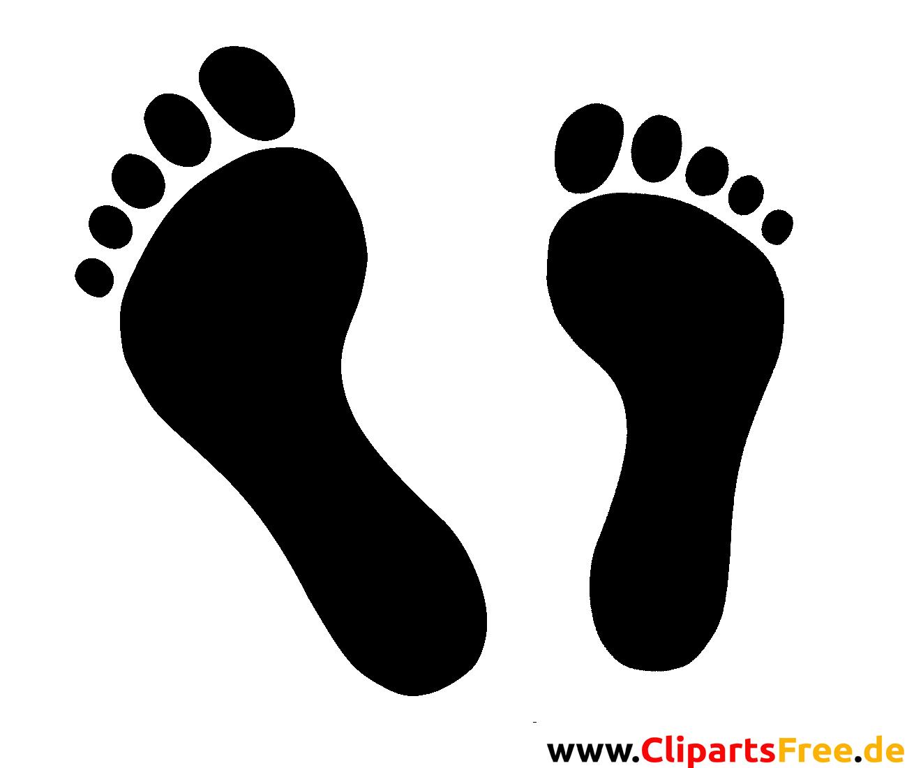fussabdr cke clipart bild grafik silhouette schwarz weiss. Black Bedroom Furniture Sets. Home Design Ideas
