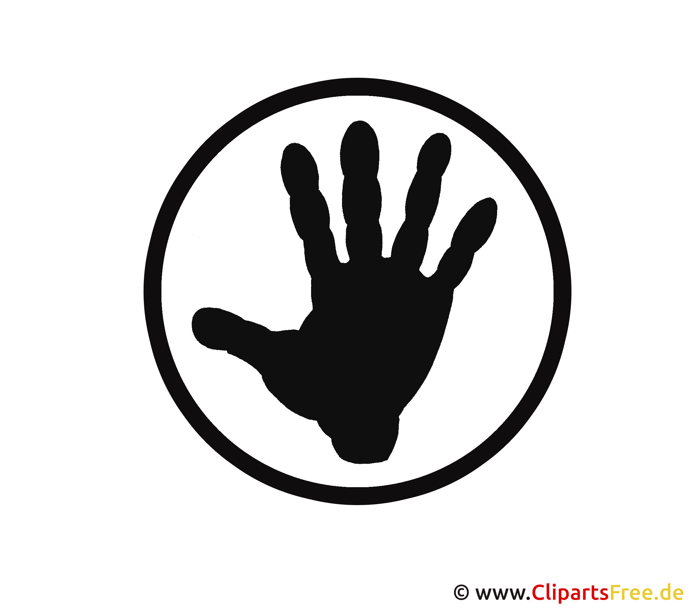 Hand Silhouette Clipart