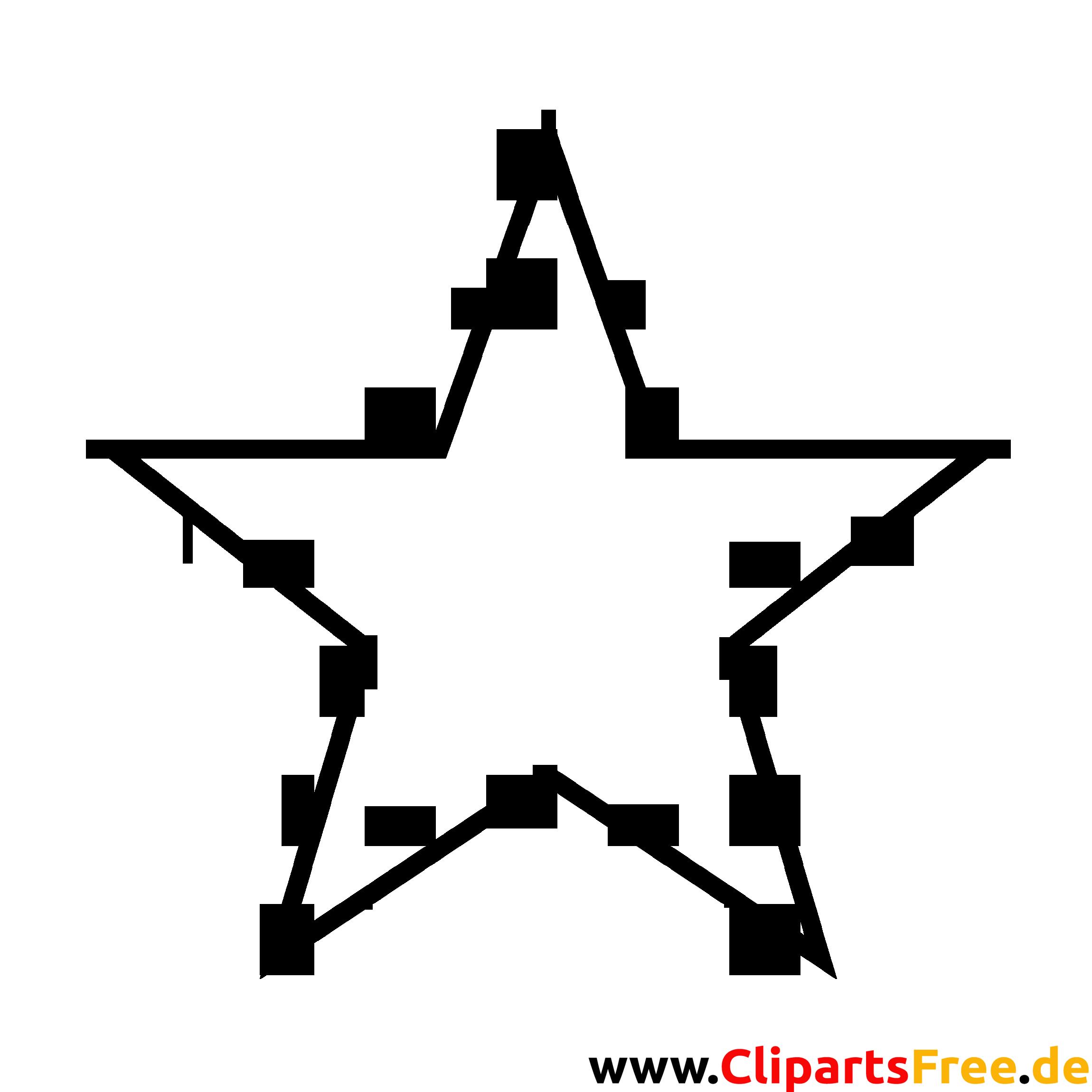 Image Clipart Contour Noir Et Blanc Etoile