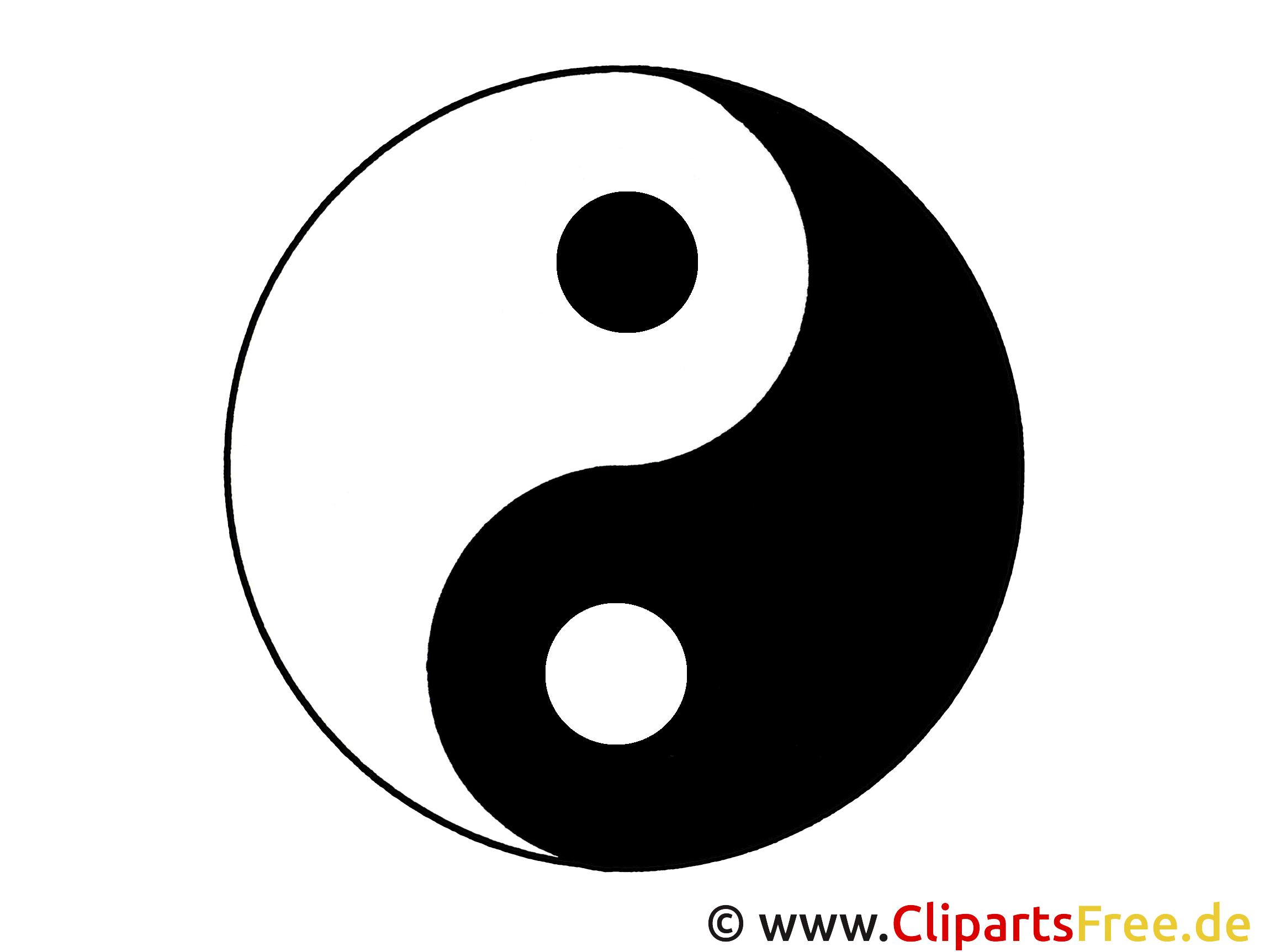 Yin und Yang Symbol Bild