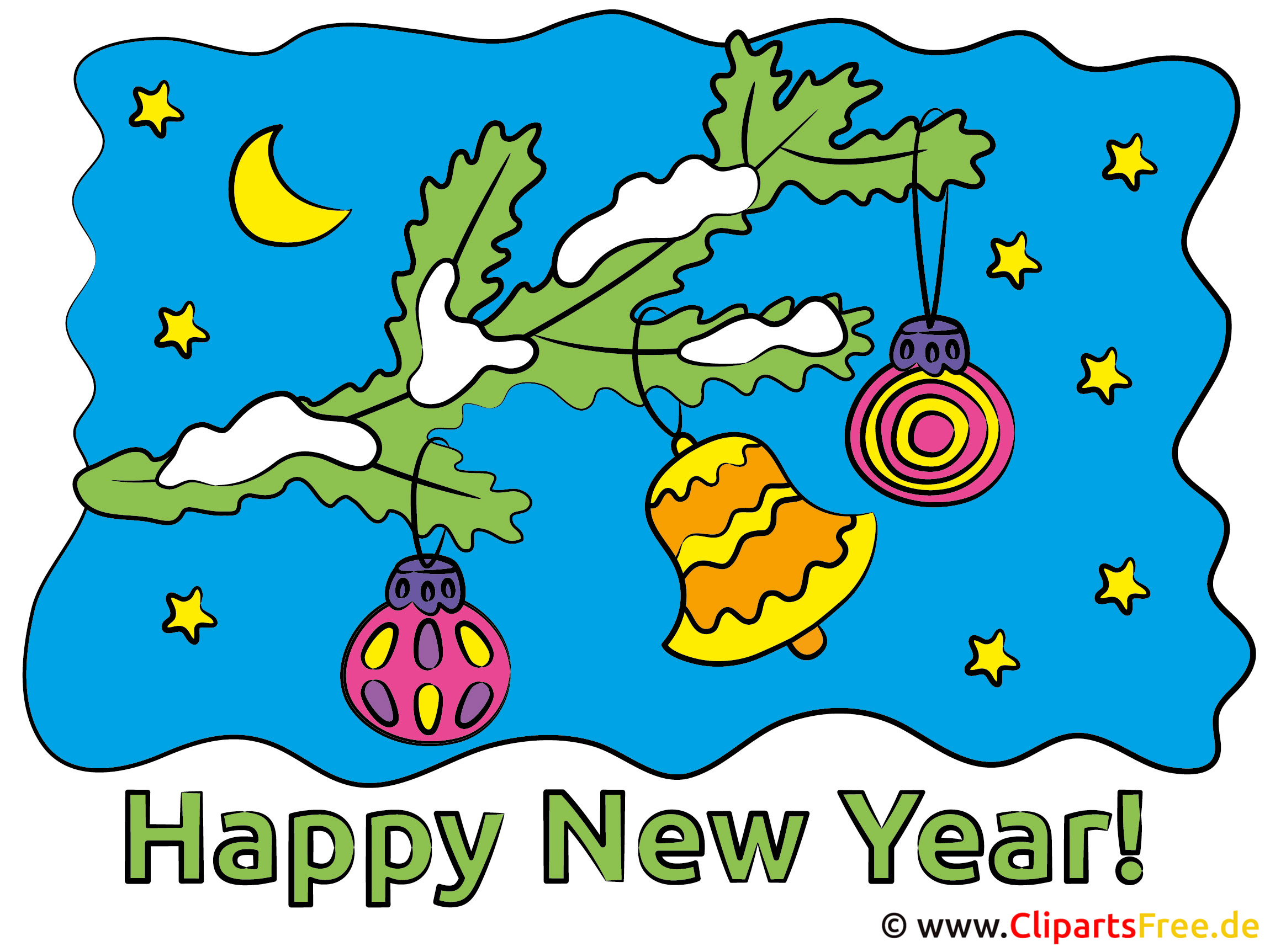 Beautiful Happy New Year Clipart