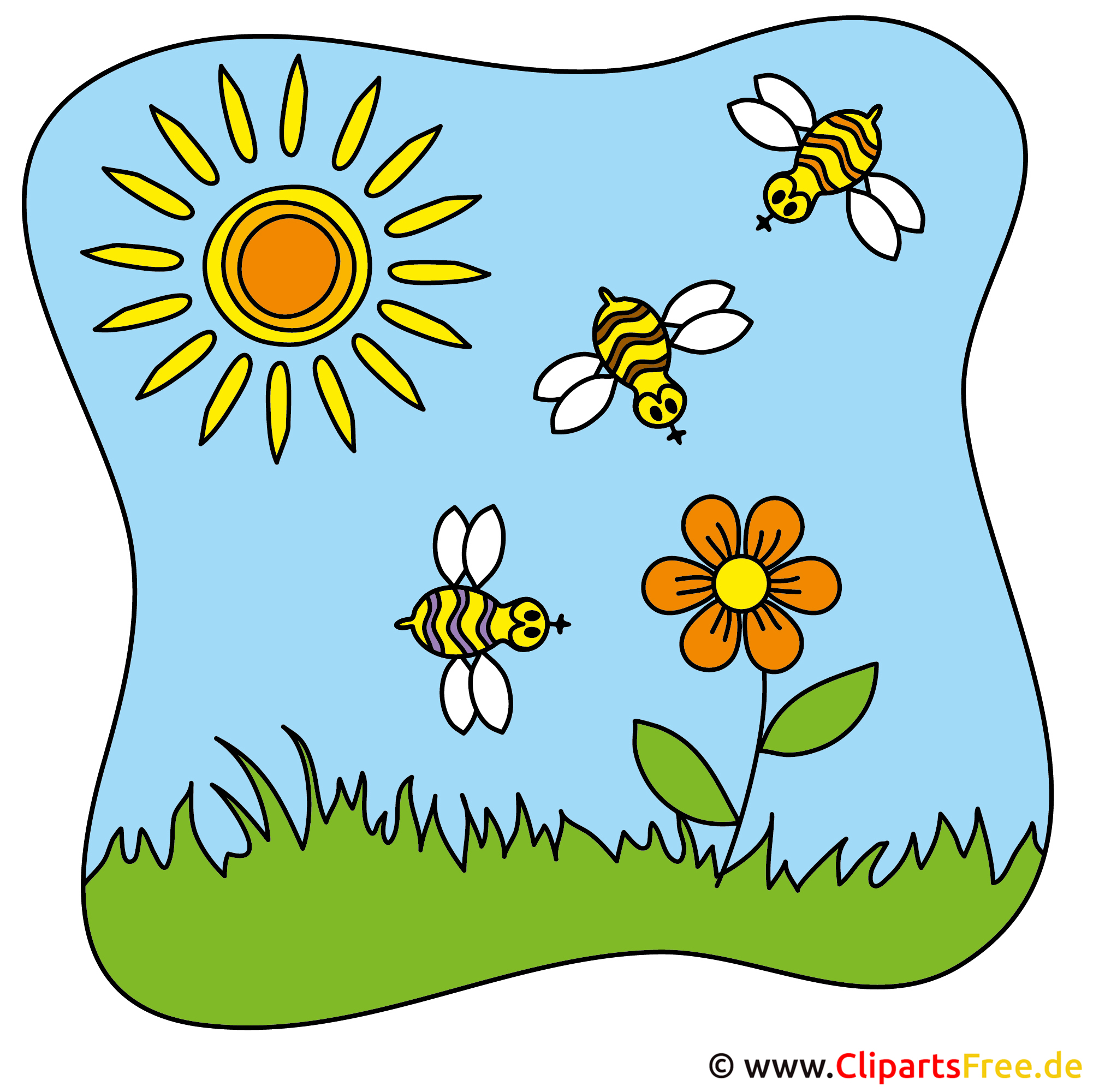 bienen clipart sommer cliparts free. Black Bedroom Furniture Sets. Home Design Ideas