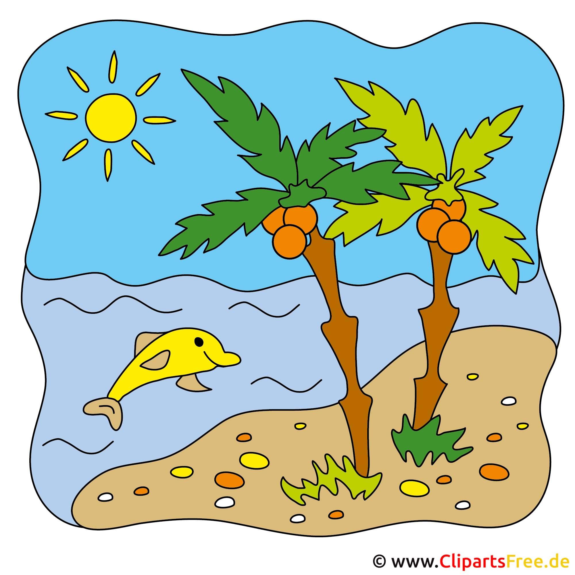 Palmen Clipart - Sommer Bilder gratis