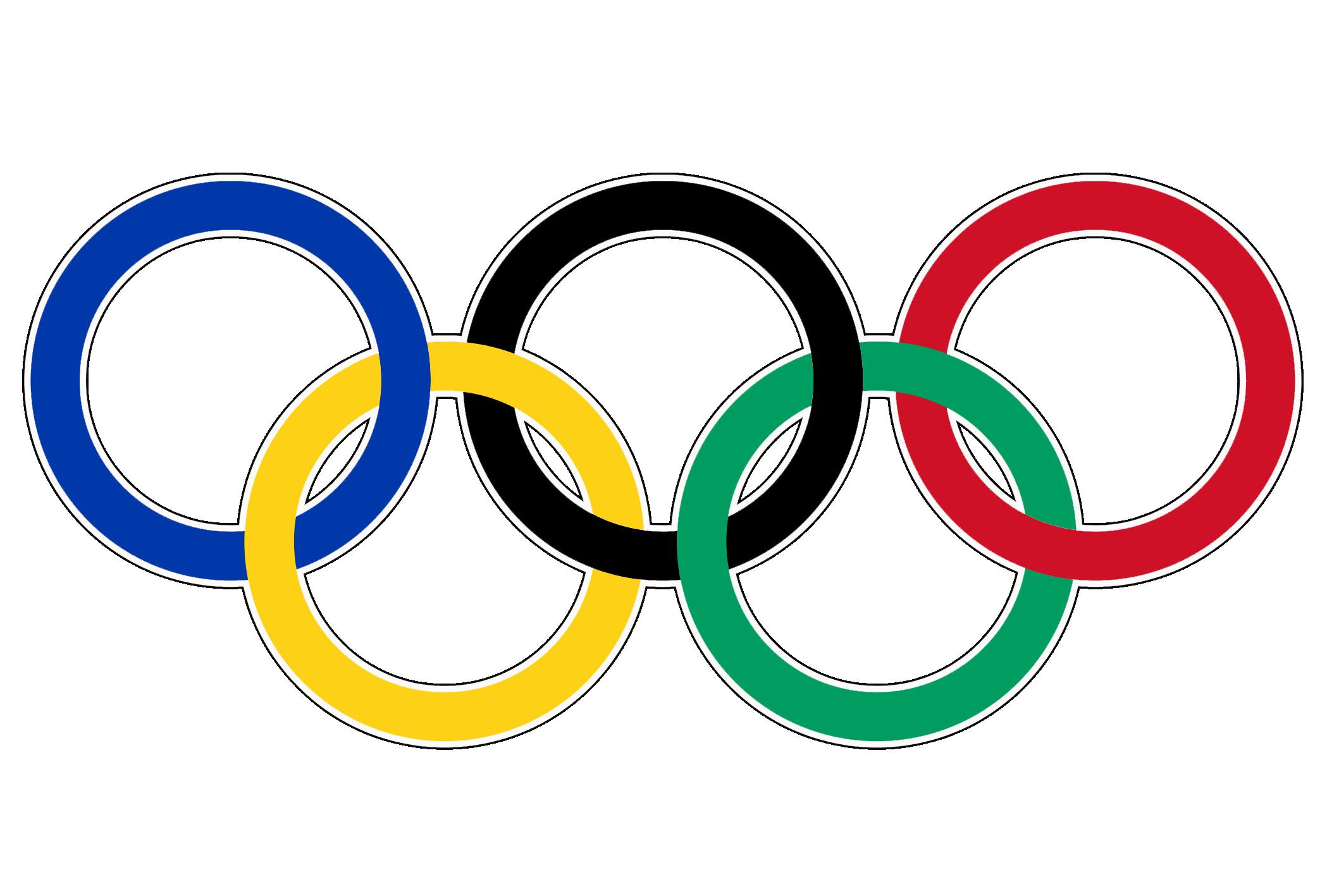 2021 bunte olympische Ringe Clipart