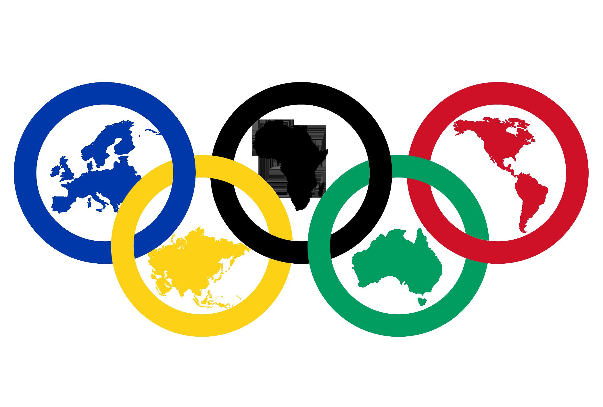 2021 Olympische Ringe mit Kontinenten Bedeutung Illustration PNG