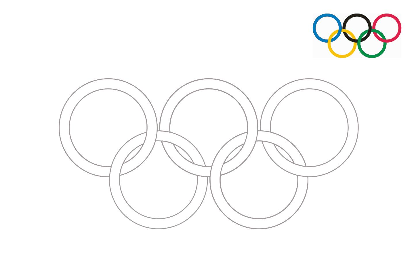 2021 Olympische Ringe zum Drucken und Ausmalen Clipart