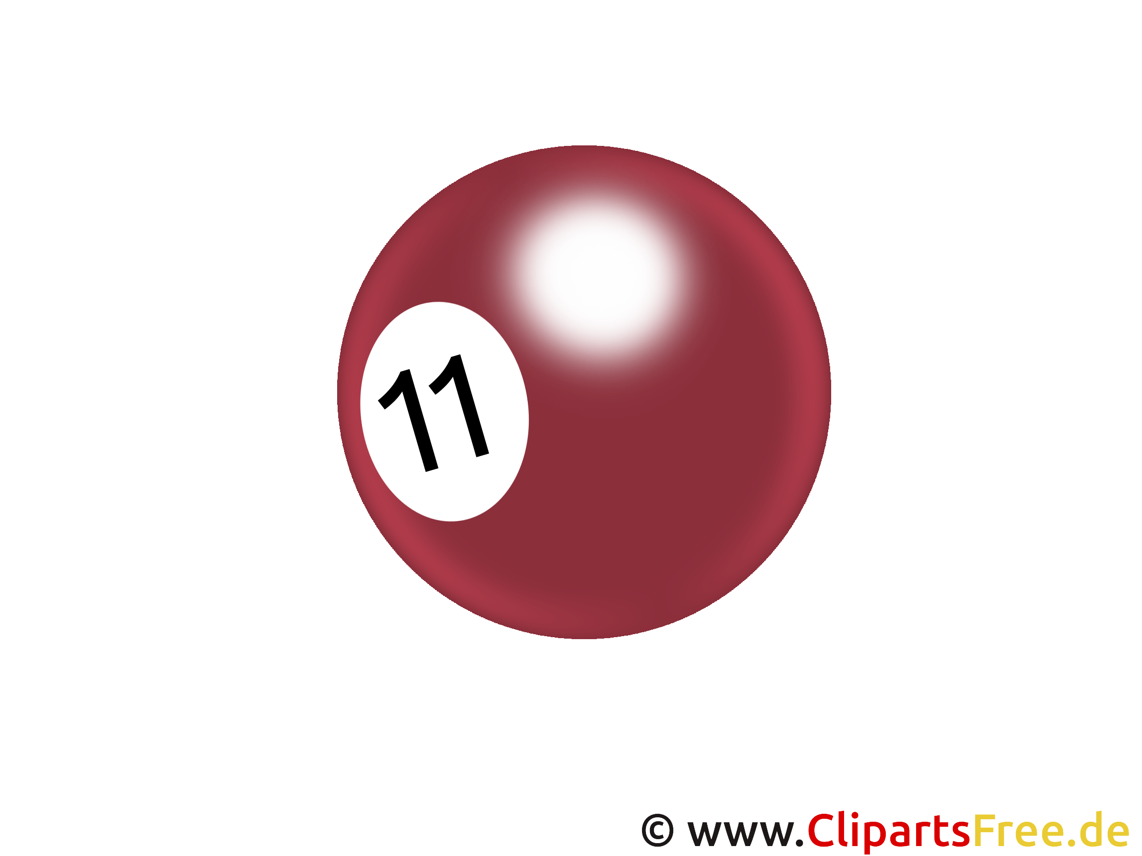 Billardball Clipart PNG transparent