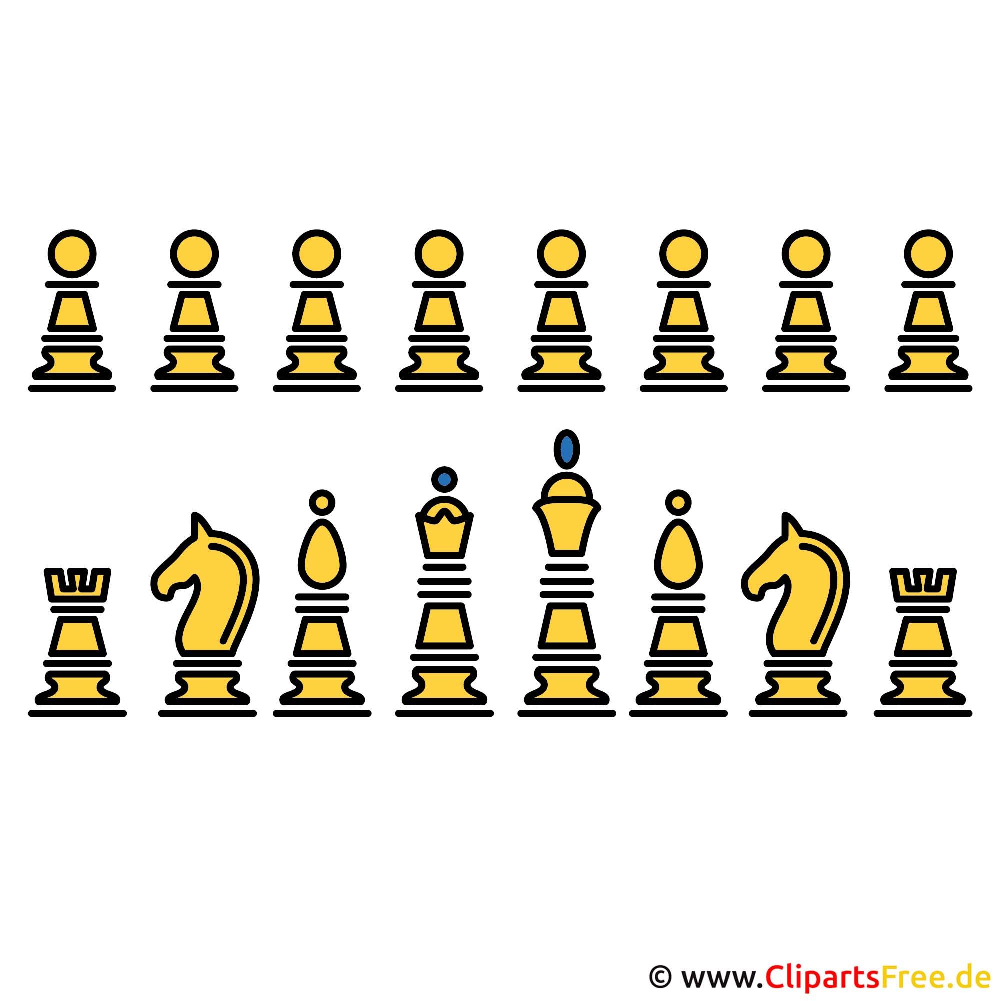Schachfiguren Bild Clipart kostenlos