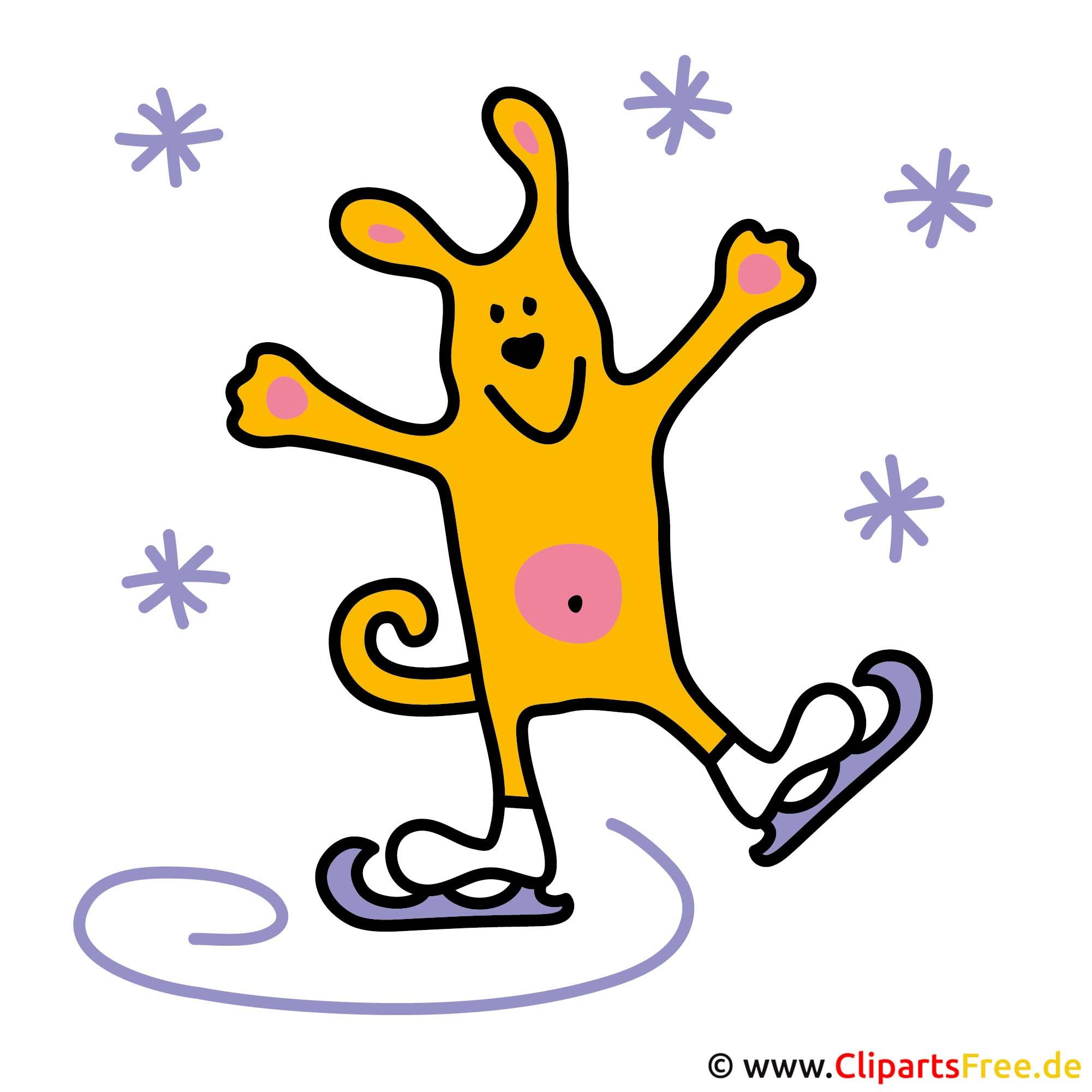 schaatsen clip art gratis