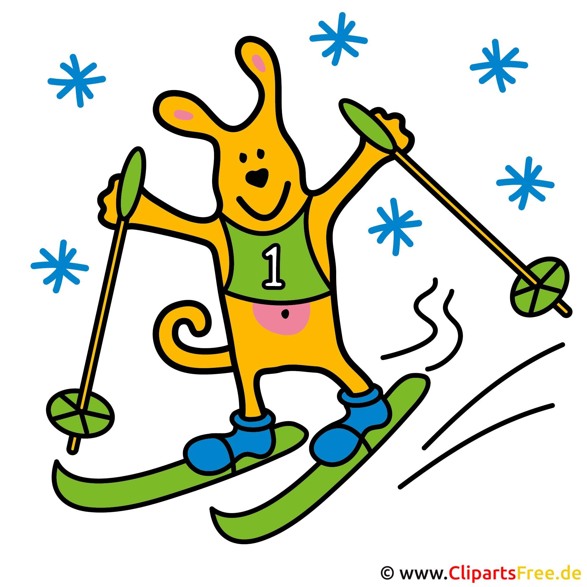 Ski Clipart - Sportbilder gratis