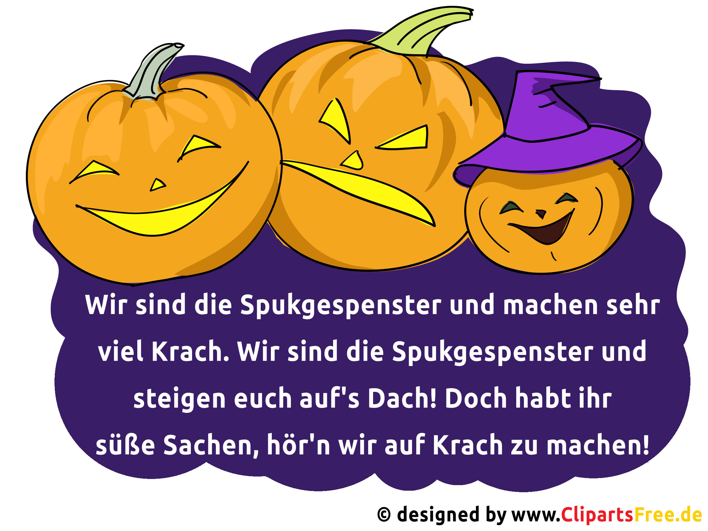halloween gedicht als spruchbild. Black Bedroom Furniture Sets. Home Design Ideas