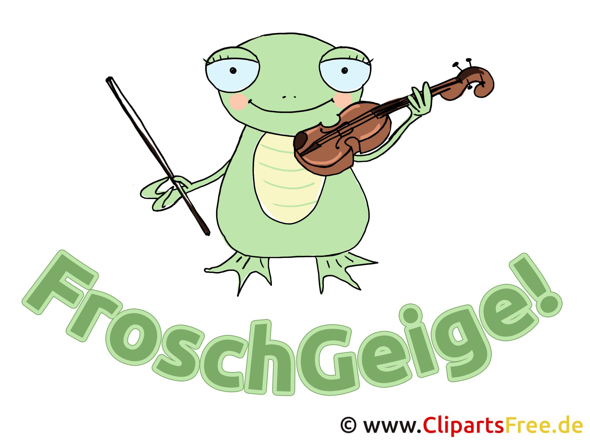 """Lustiges Bild """"FroschGeige"""""""