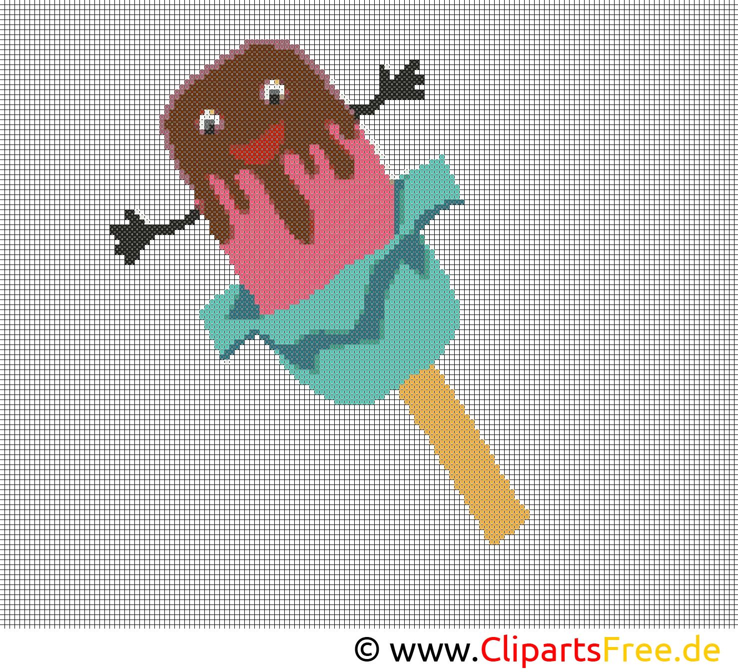 Stickmuster Kreuzstich kostenlos Eis