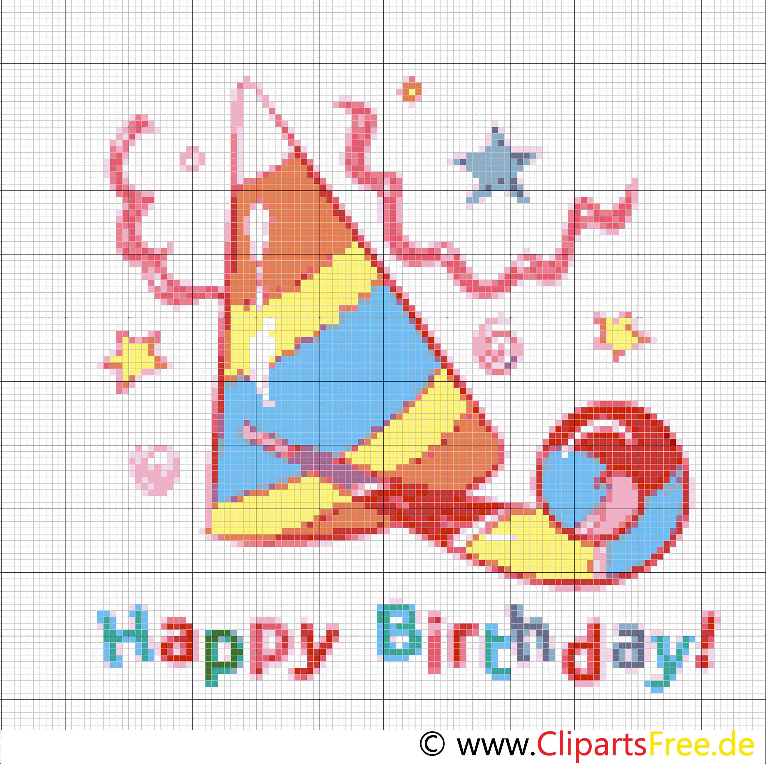 Birthday Bild Stickvorlage