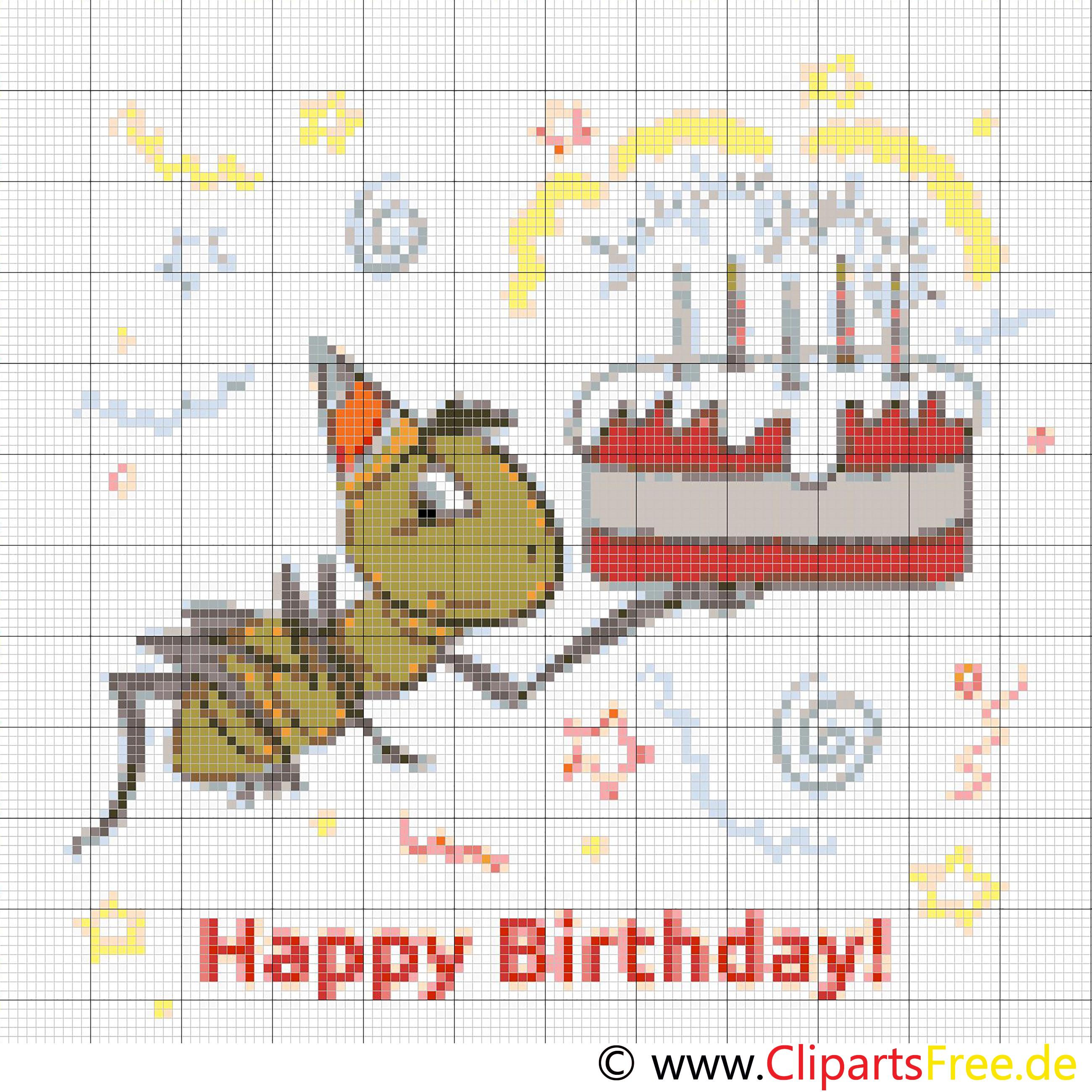 Cross Stitch Template Birthday