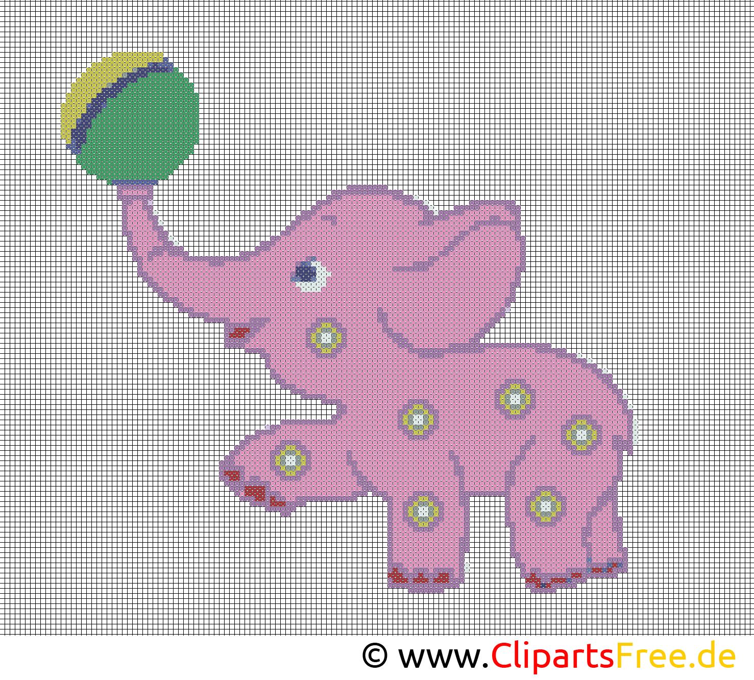 Kreuzstichvorlage kleiner elefant vorlagen zum sticken for Sticken vorlagen kostenlos