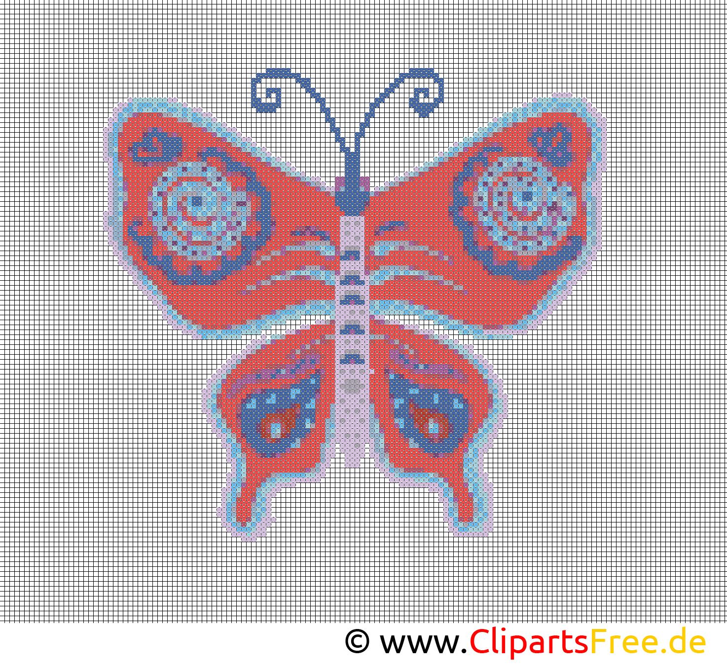 Stickmuster kostenlos Schmetterling