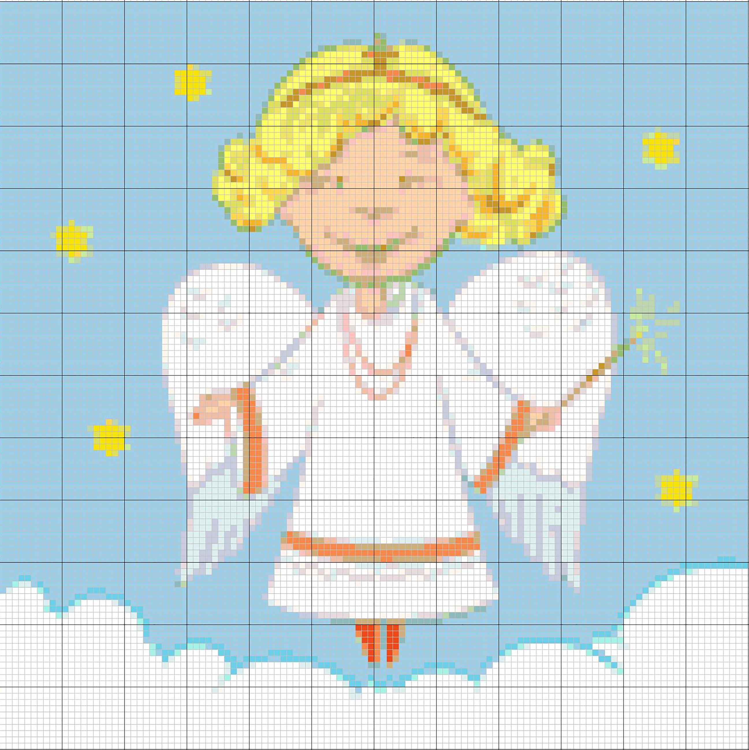 Engel Bild-Stickvorlage