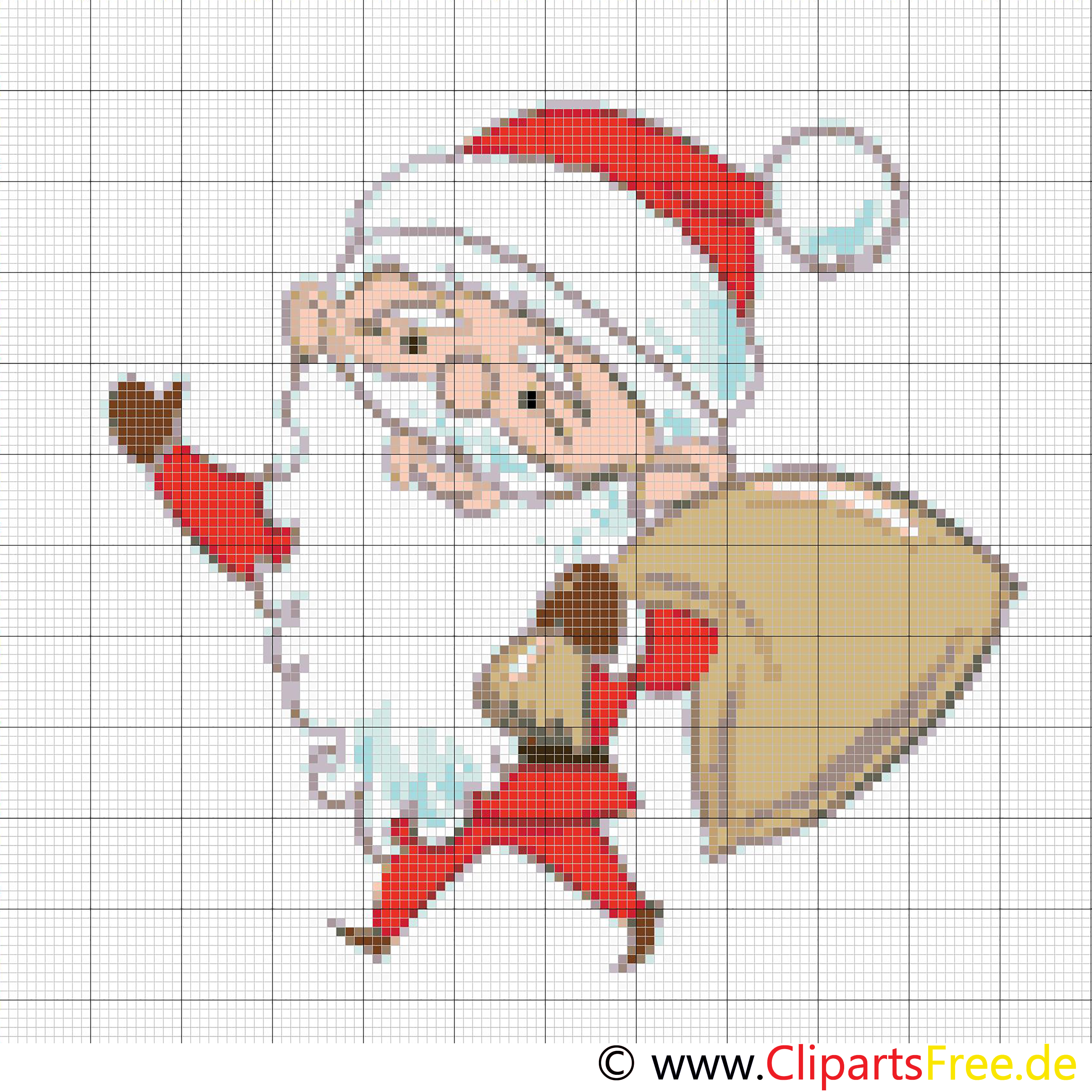 Santa stitch template for Christmas time