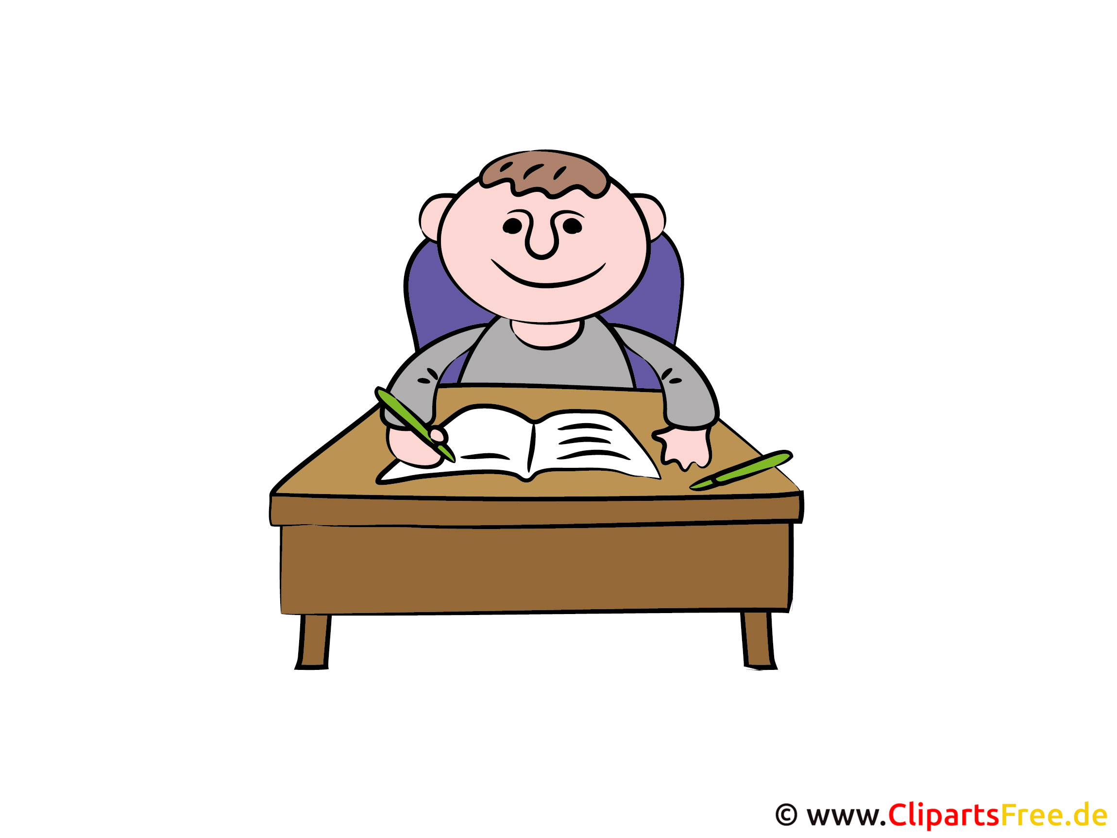 Schreibtisch büro clipart  Strichmaennchen Schreibtisch