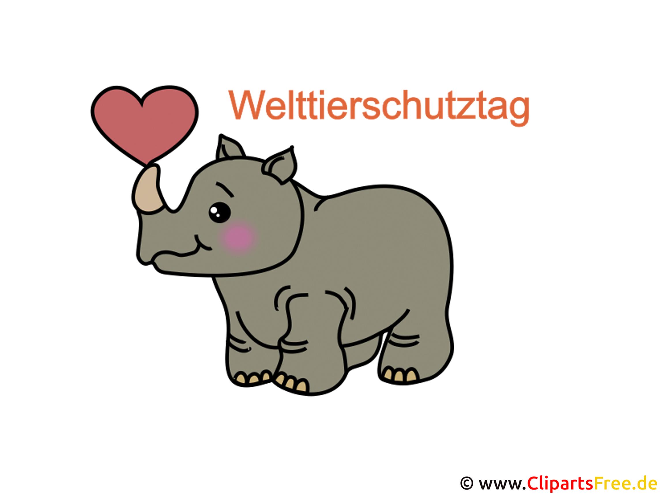 Clipart kostenlos zum Welttierschutztag