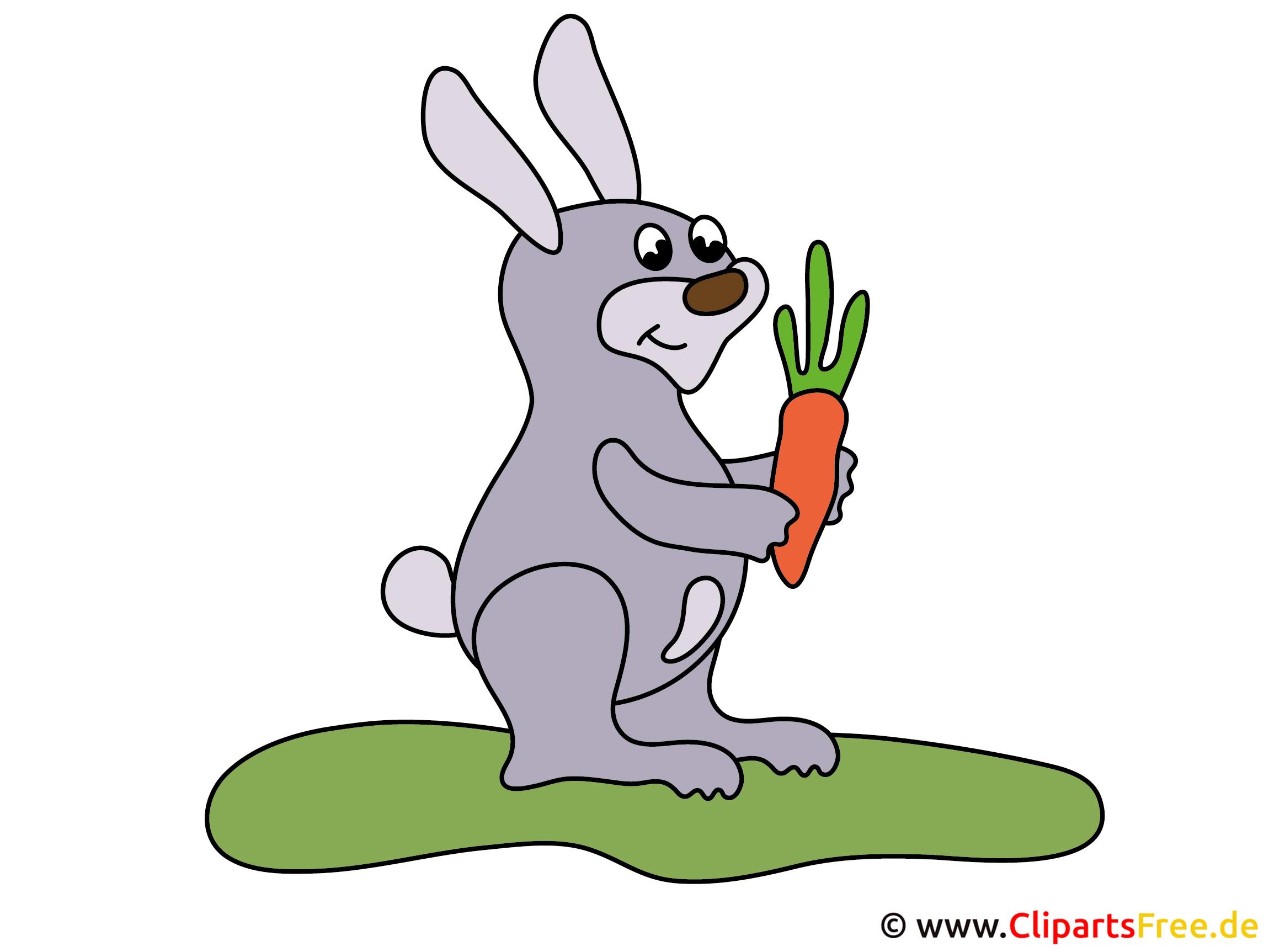 Comic Kaninchen mit Möhre