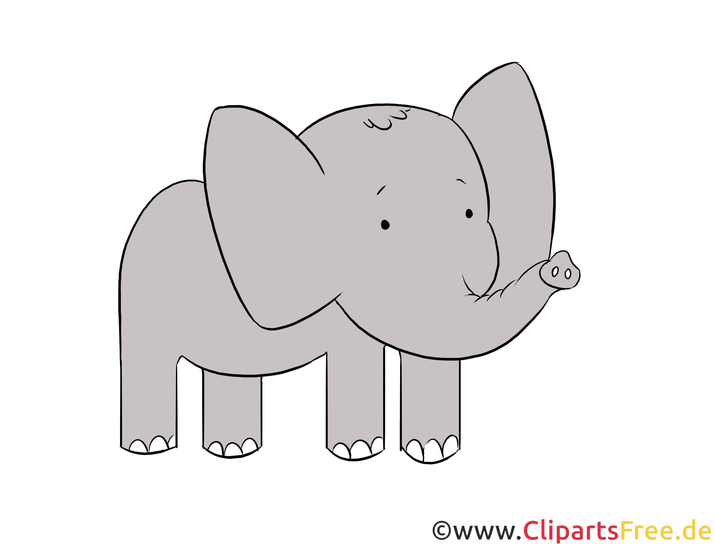 Elefant Clipart Illustration Bild Kostenlos
