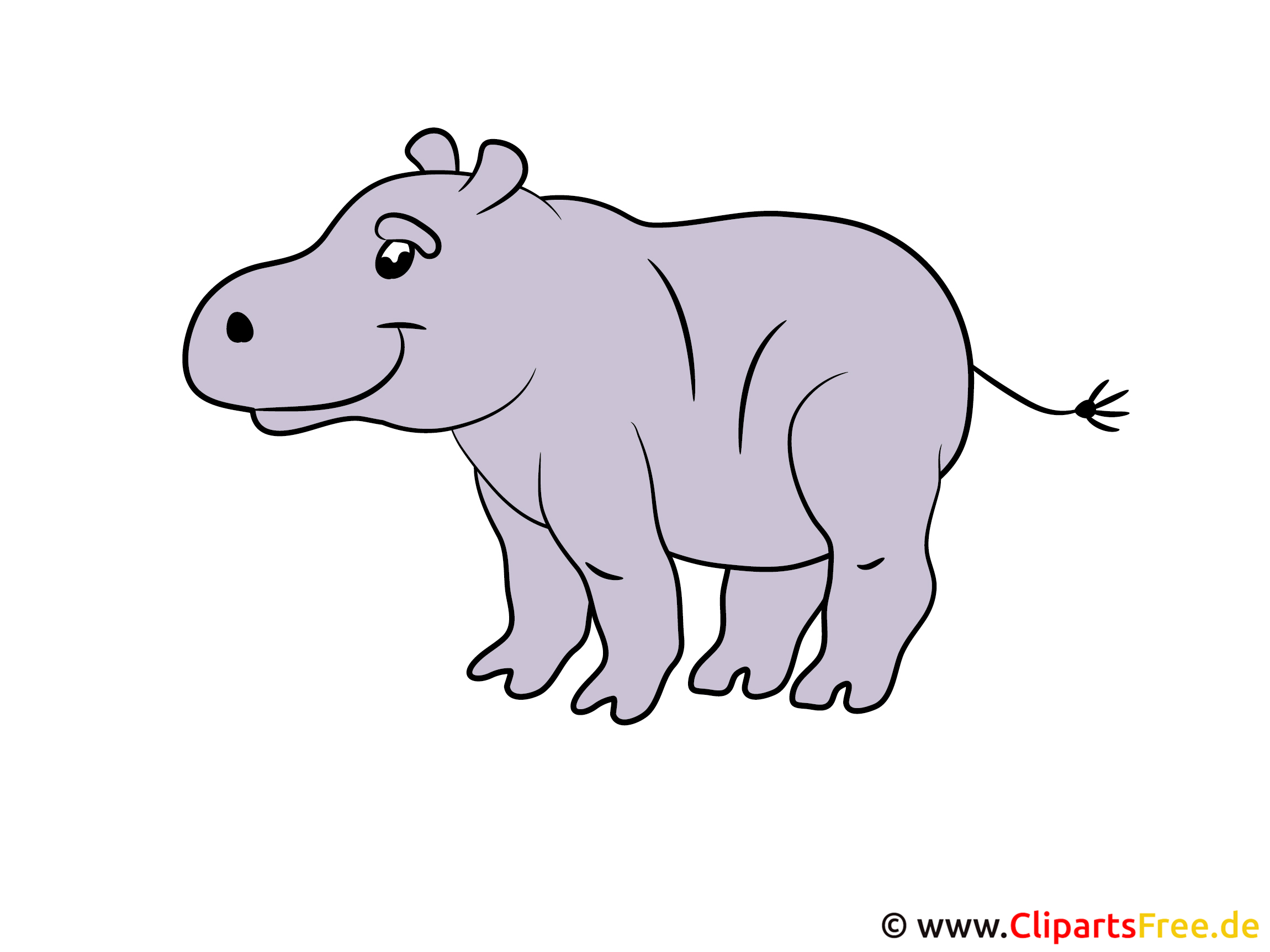 Flusspferd Clipart
