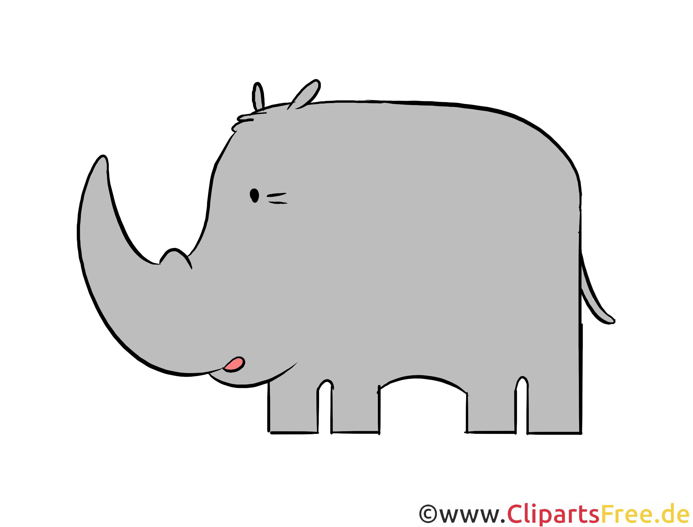 Nashorn Clipart, Illustration, Bild kostenlos