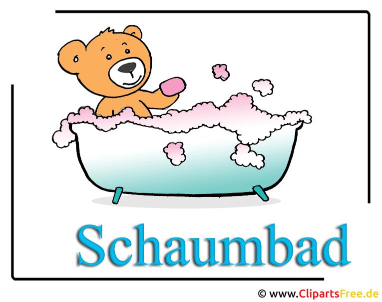Schaumbad Cartoon Clipart Bild