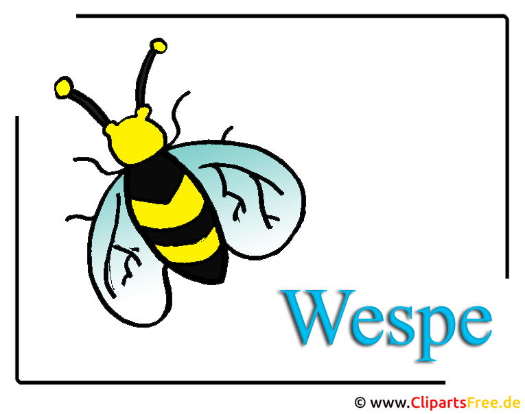 Wespe-Clipart-free-Insekten