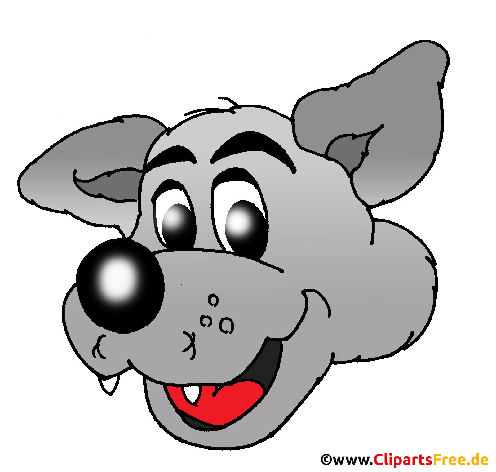 Wolf Zeichentrickfilm-Charakter